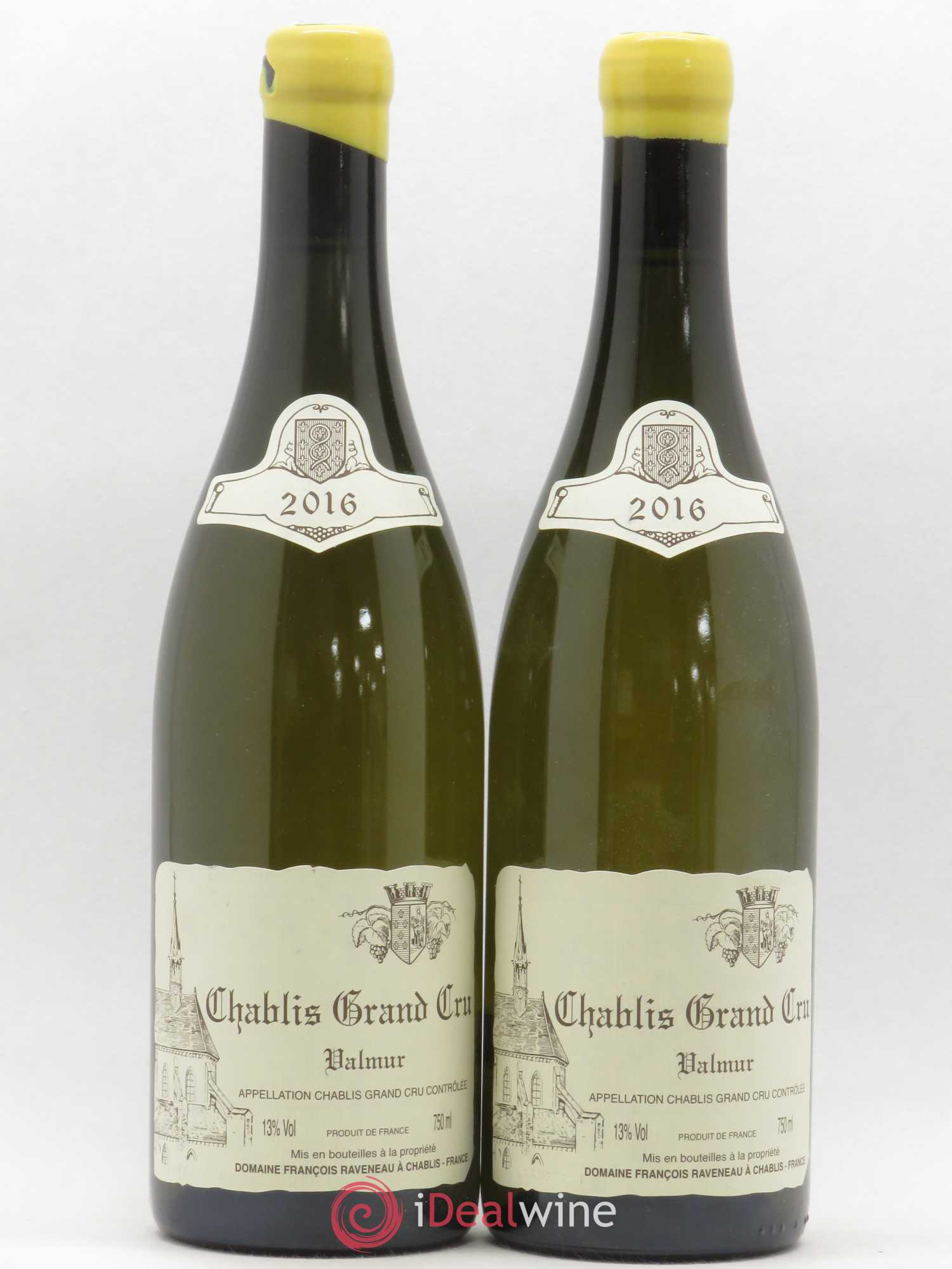 Chablis Grand Cru Valmur Raveneau (Domaine)  2016 - Lot of 2 Bottles