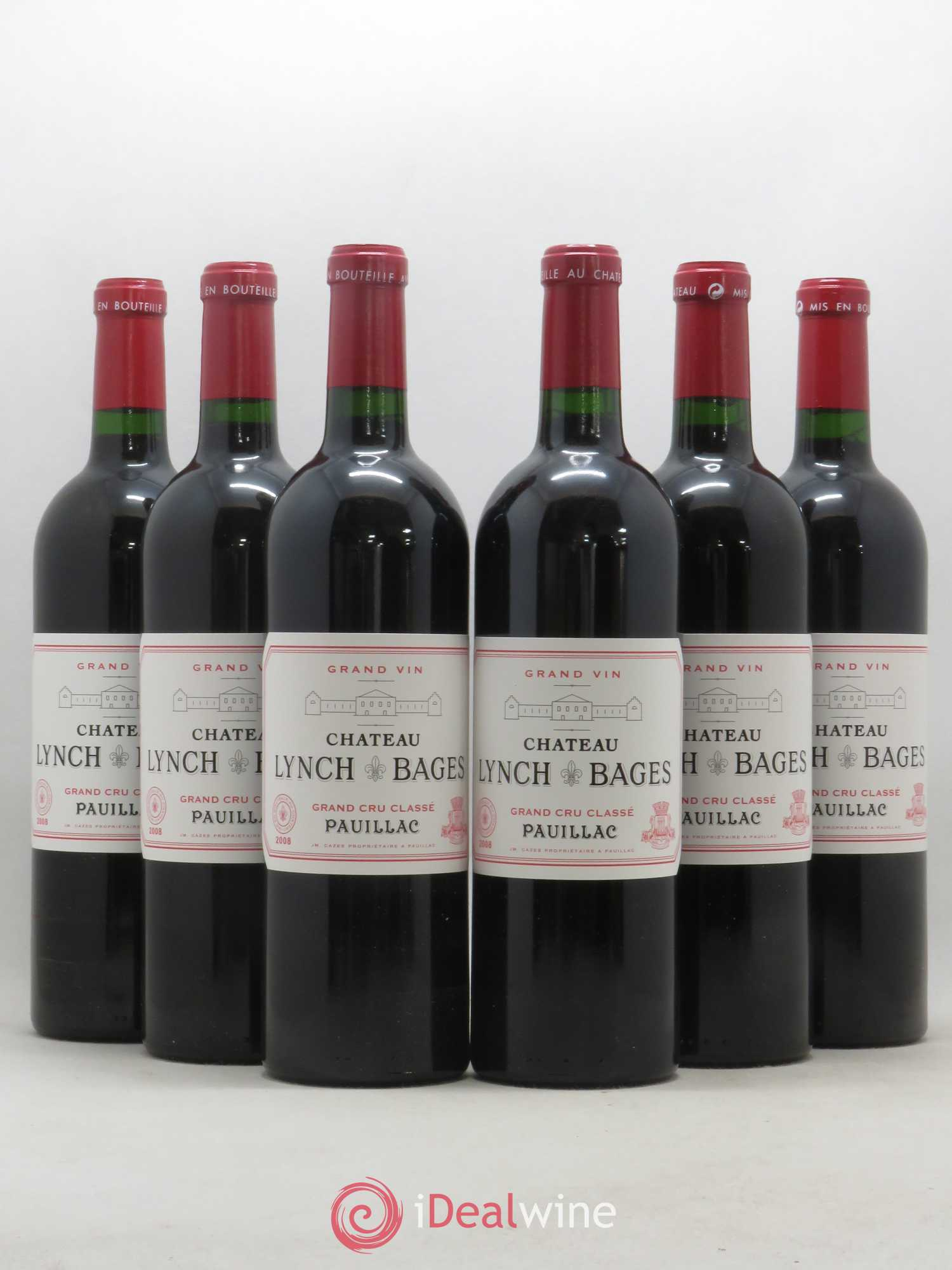 Château Lynch Bages 5ème Grand Cru Classé  2008 - Lot of 6 Bottles