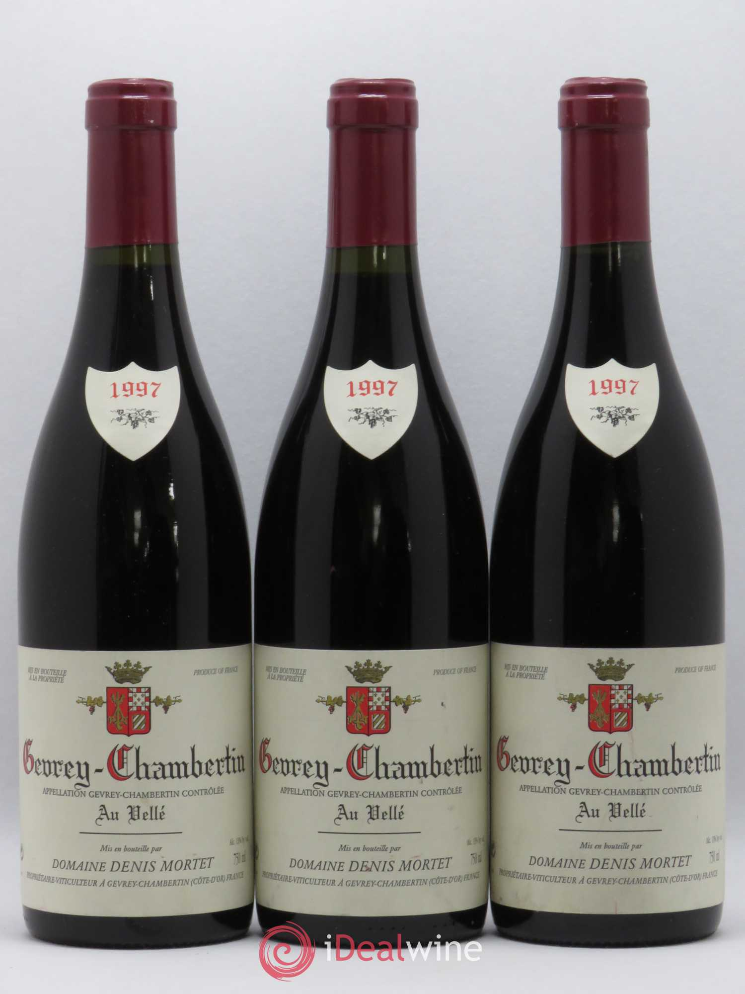Gevrey-Chambertin Au Vellé Denis Mortet (Domaine)  1997 - Lot of 3 Bottles