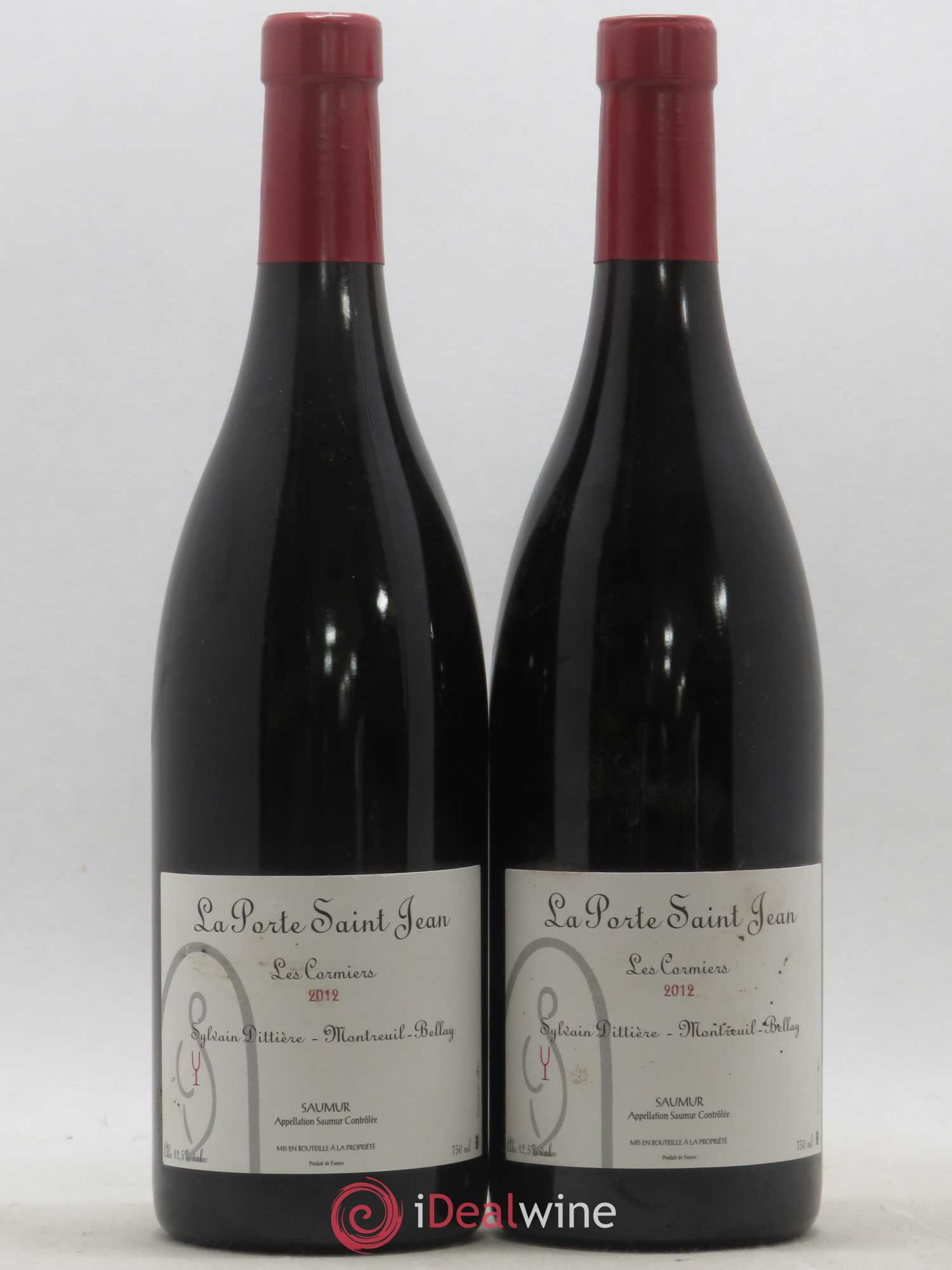 Saumur Les Cormiers La Porte Saint Jean  2012 - Lot of 2 Bottles