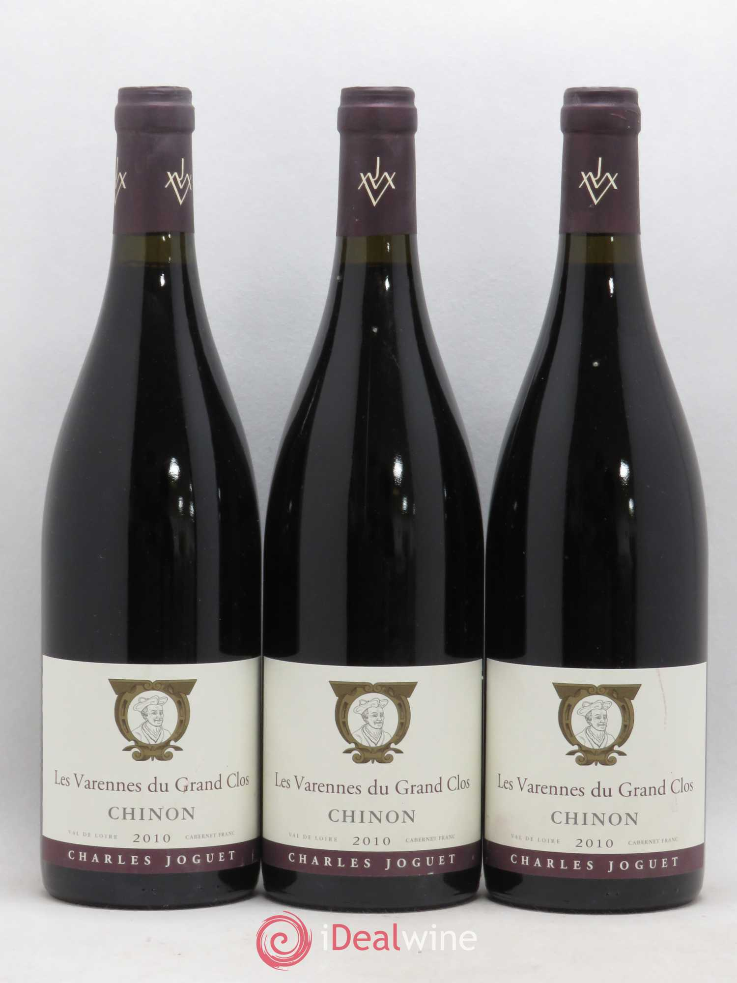 Chinon Les Varennes du Grand Clos Charles Joguet (Domaine)  2010 - Lot of 3 Bottles