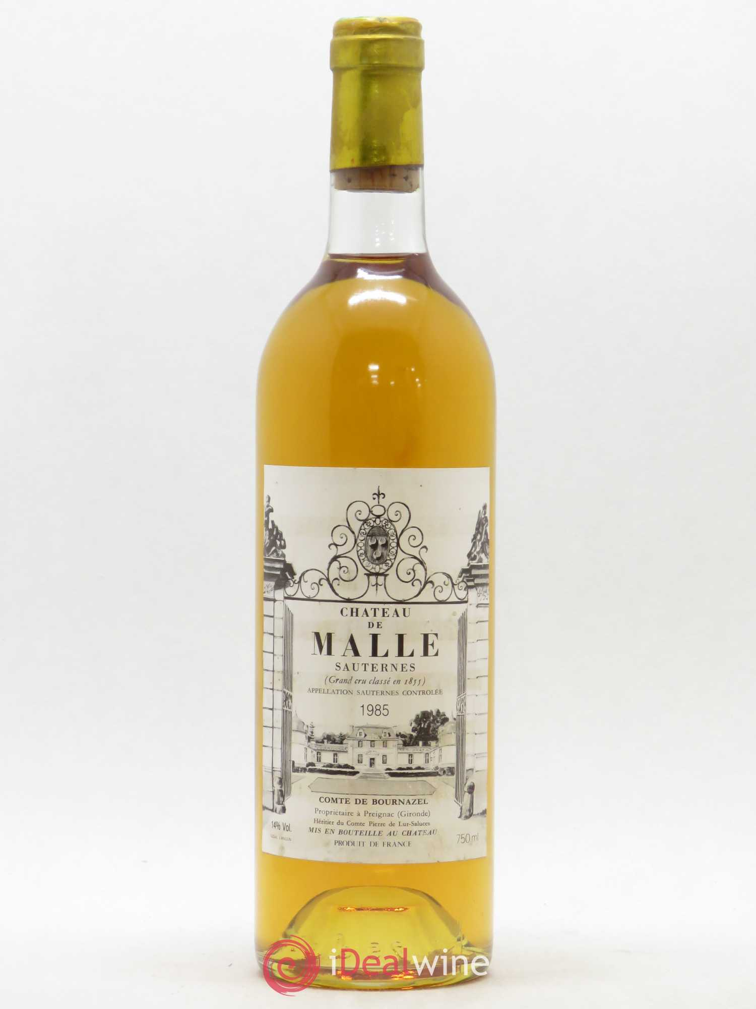 Château de Malle 2ème Grand Cru Classé  1985 - Lot of 1 Bottle