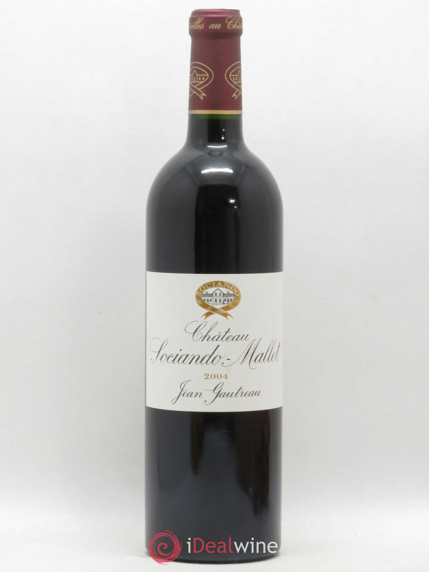 Château Sociando Mallet  2004 - Lot of 1 Bottle
