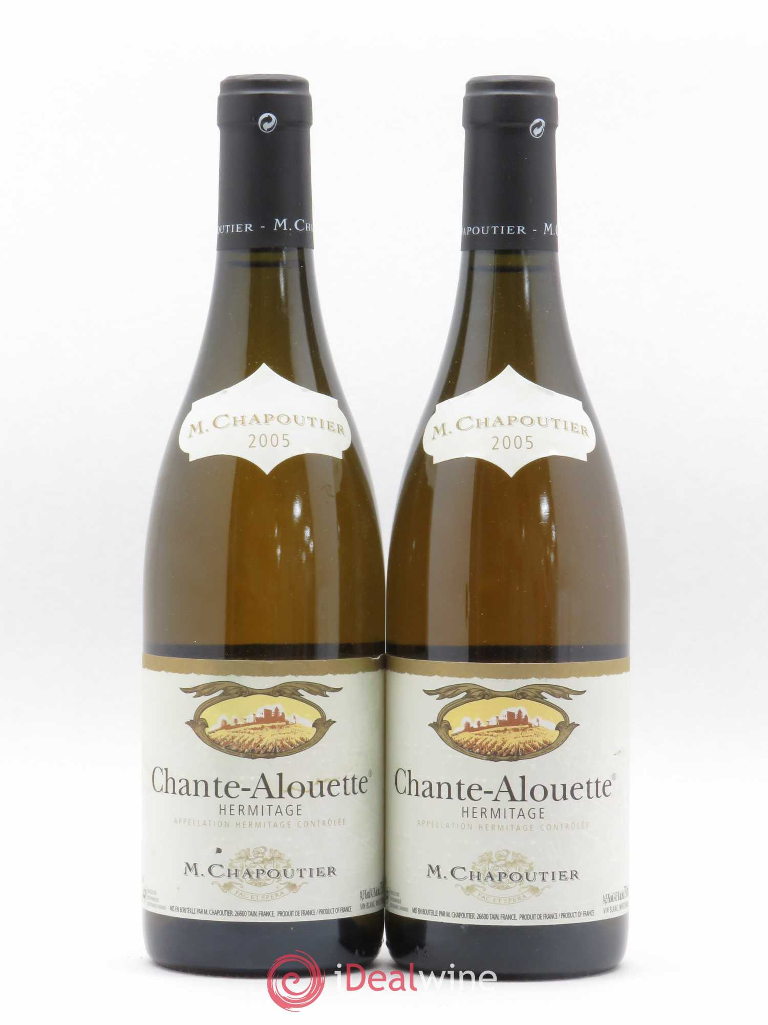Hermitage Chante Alouette Chapoutier  2005 - Lot of 2 Bottles
