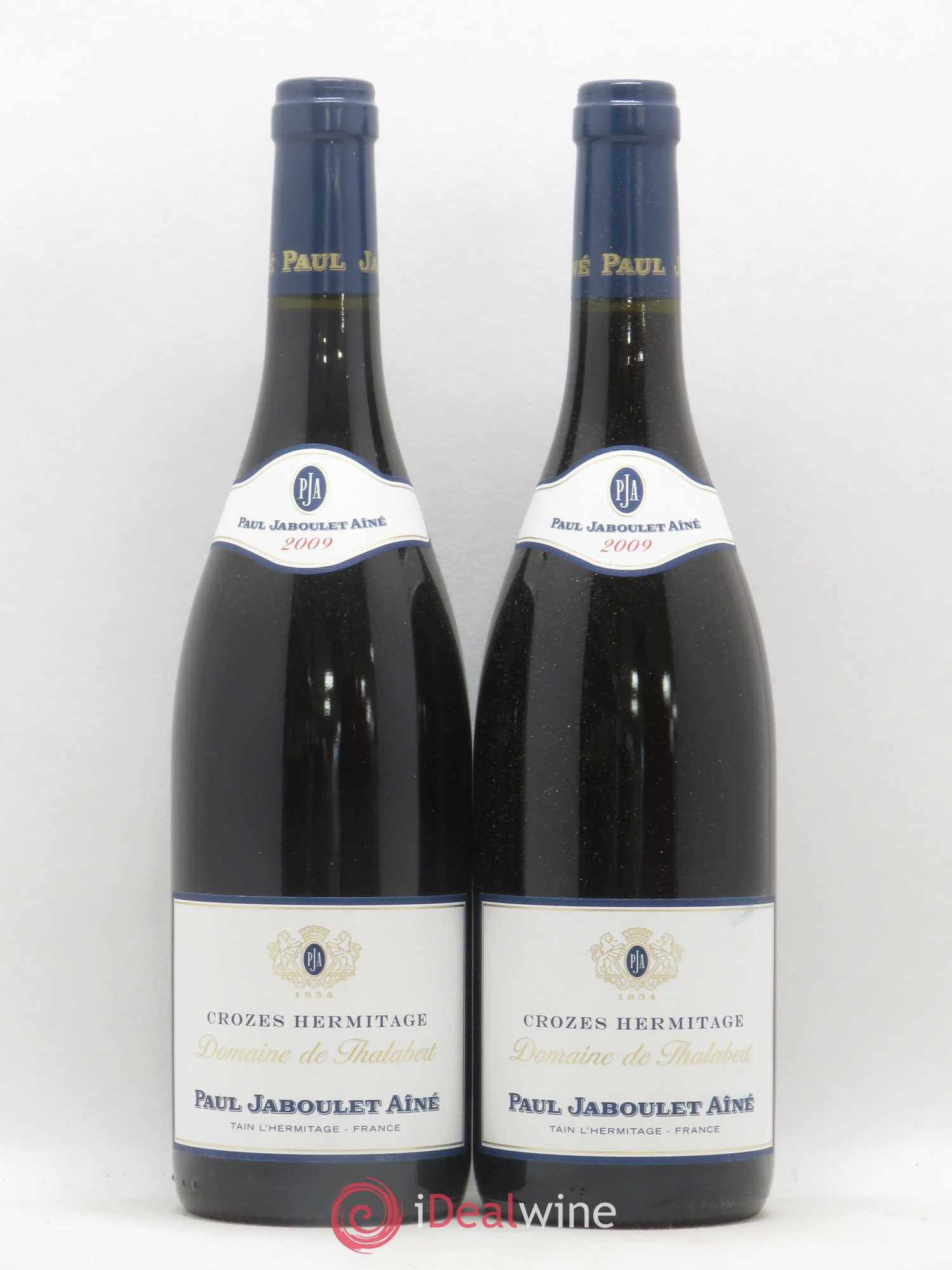 Crozes-Hermitage Domaine de Thalabert Paul Jaboulet Aîné  2009 - Lot of 2 Bottles