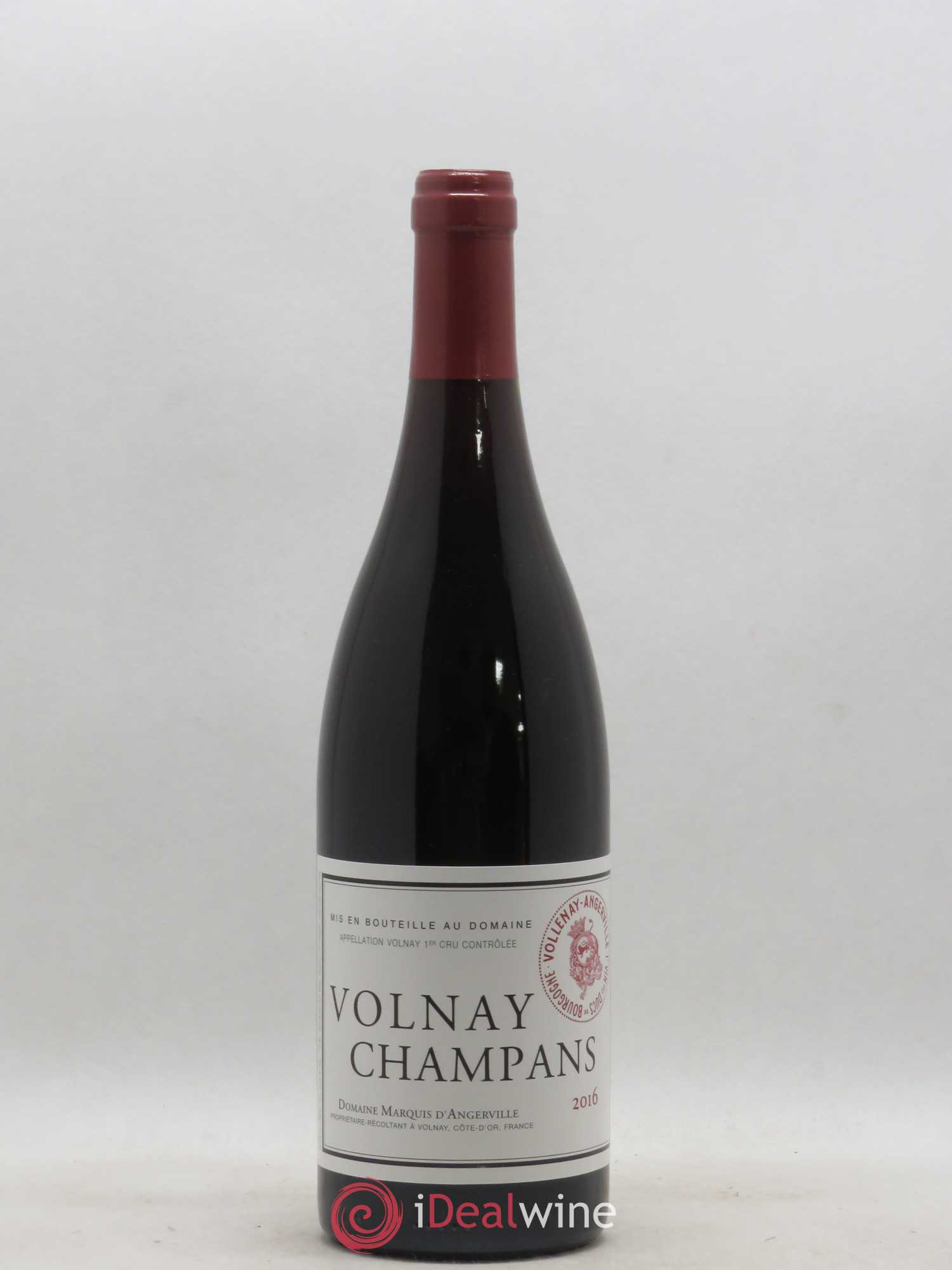 Volnay 1er Cru Champans Marquis d'Angerville (Domaine)  2016 - Lot of 1 Bottle