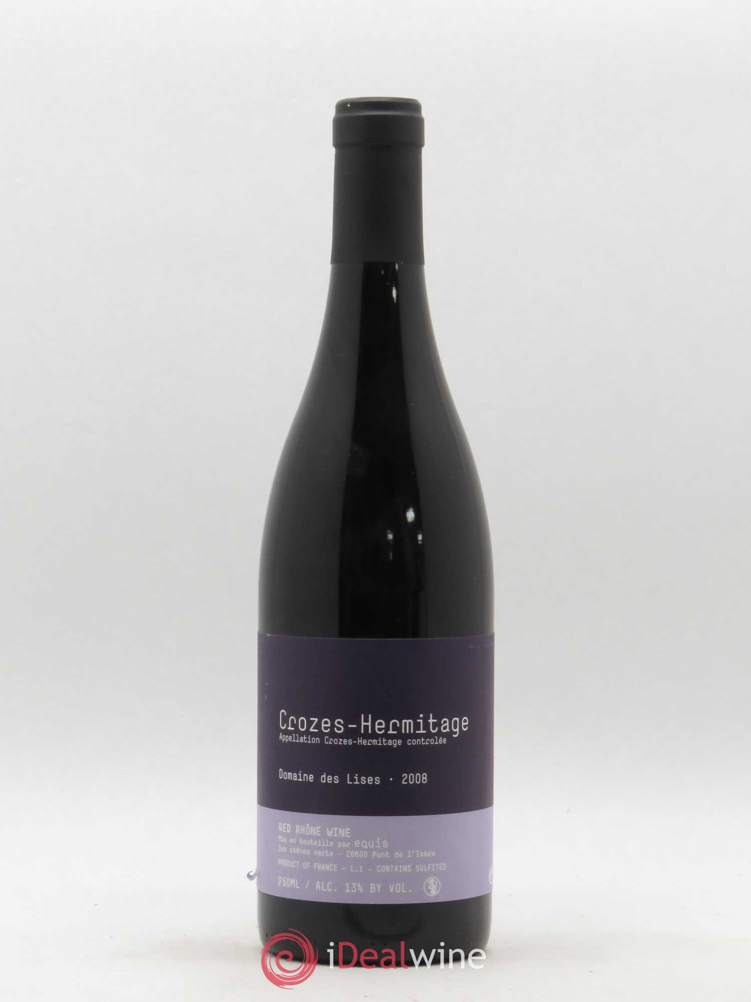 Crozes-Hermitage Lises (Domaine des)  2008 - Lot of 1 Bottle