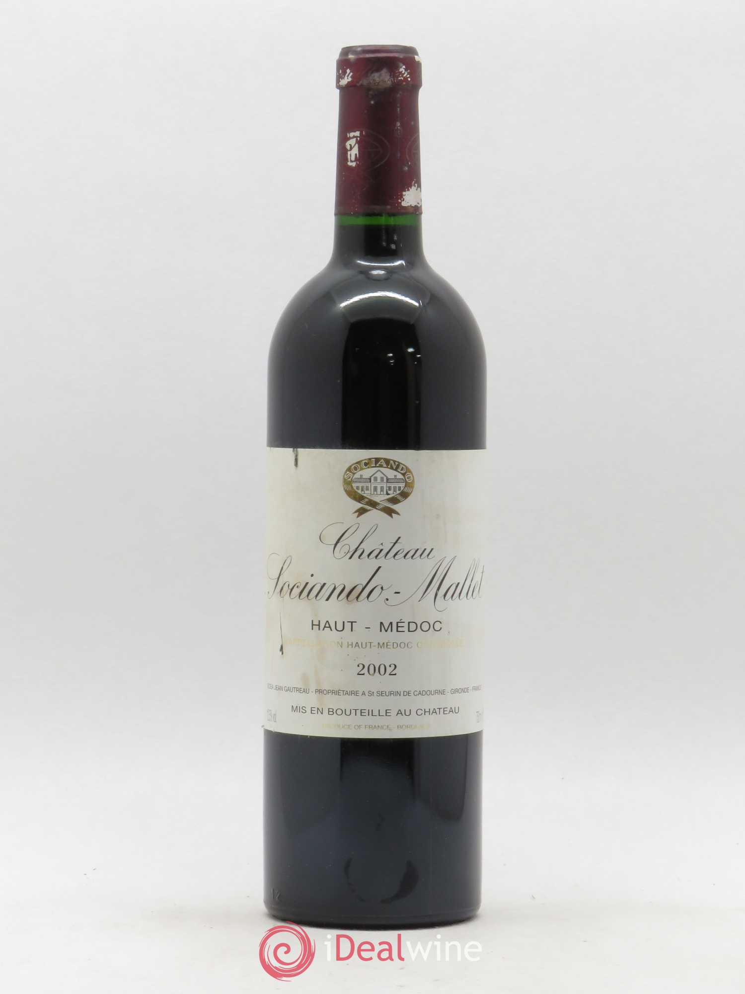 Château Sociando Mallet  2002 - Lot of 1 Bottle