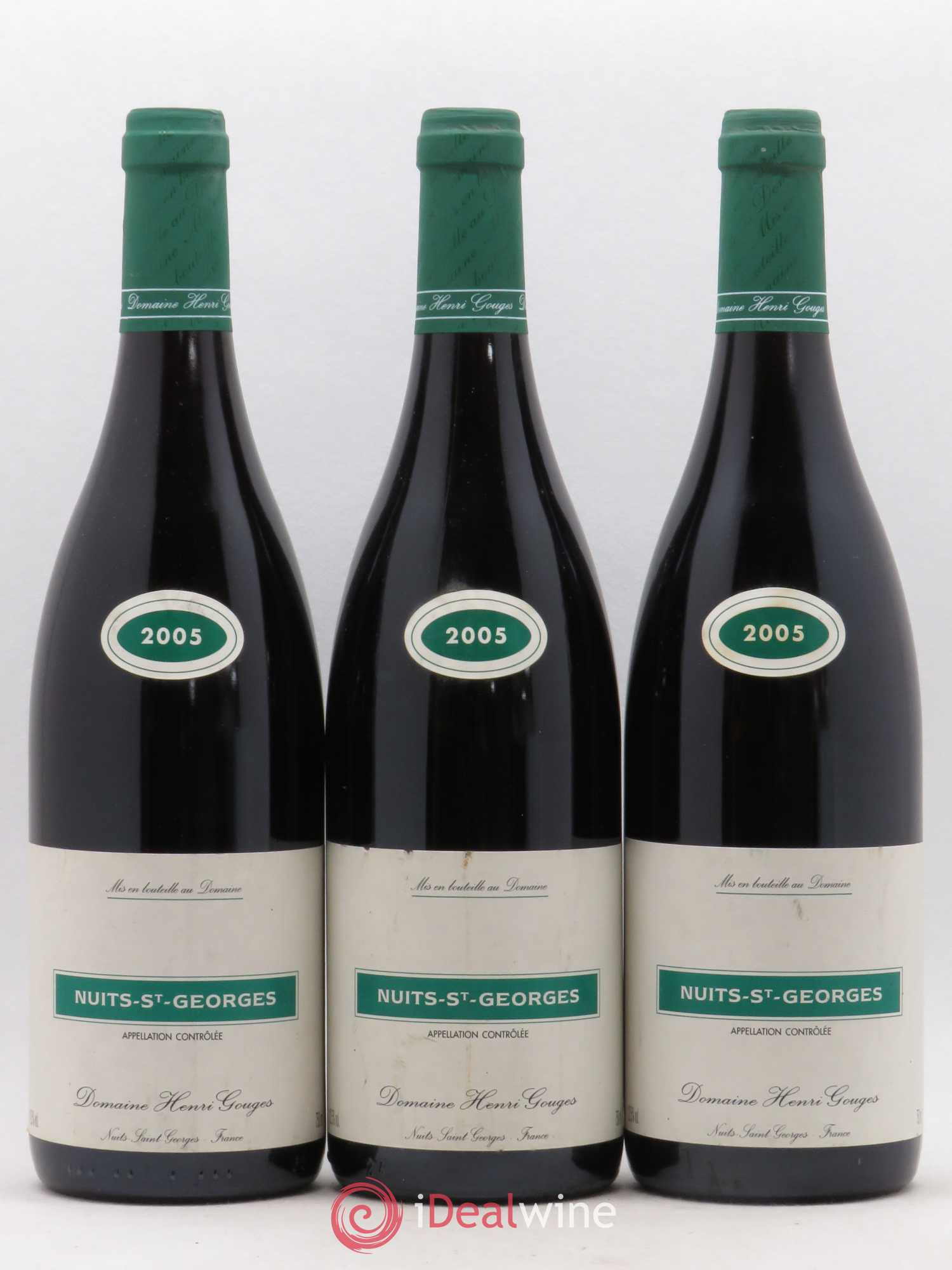 Nuits Saint-Georges Henri Gouges  2005 - Lot of 3 Bottles