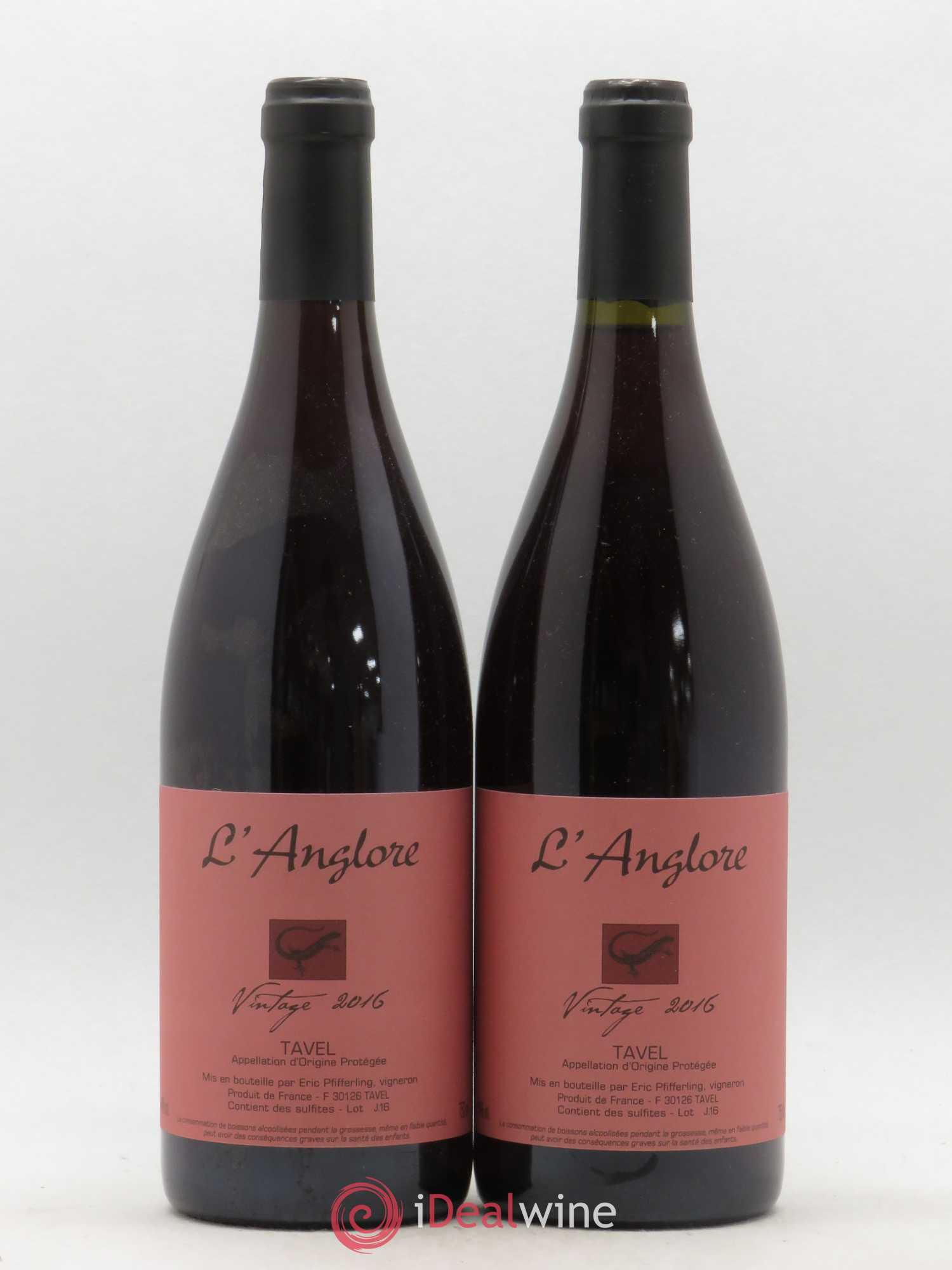 Tavel Vintage L'Anglore  2016 - Lot of 2 Bottles