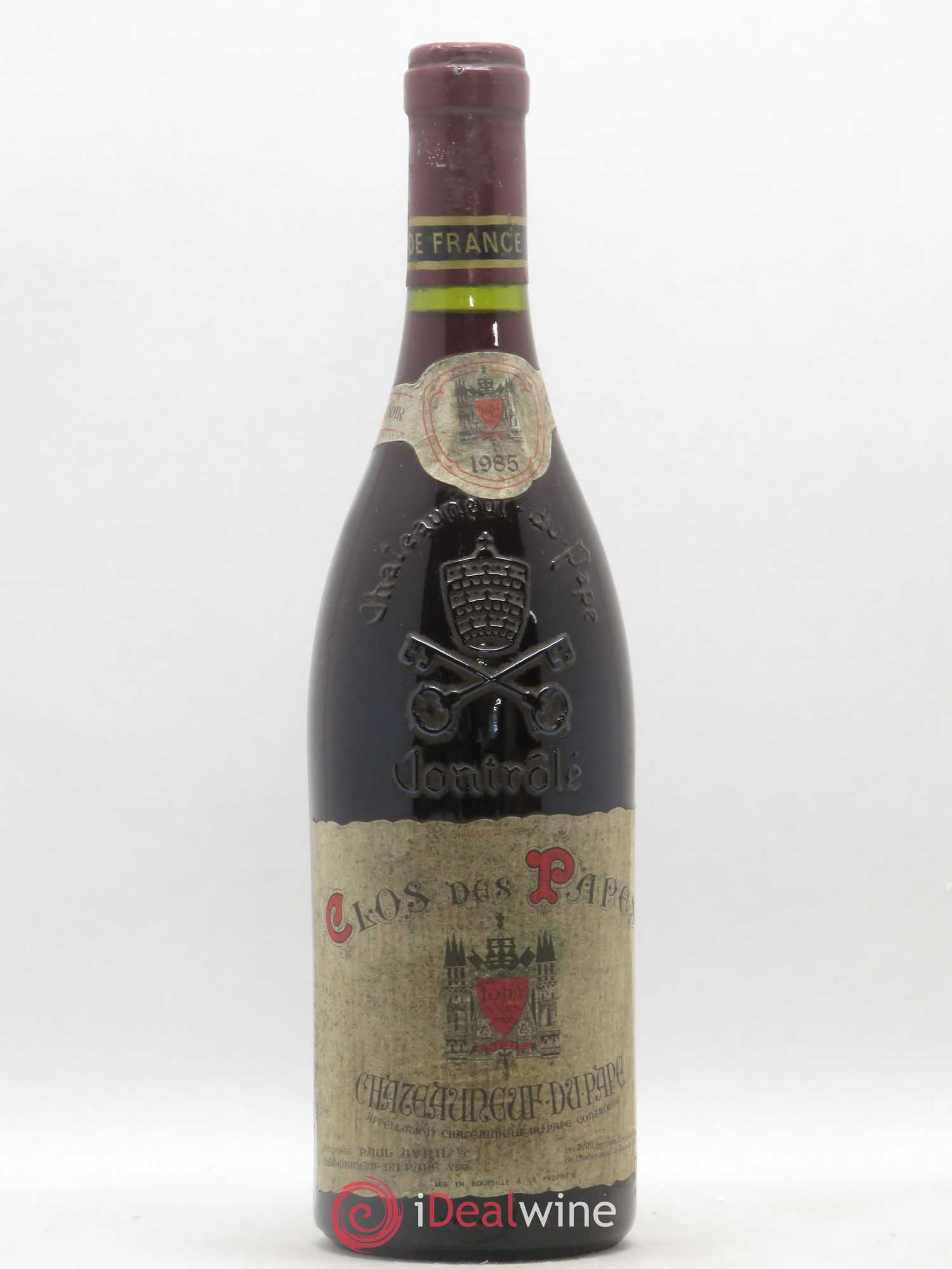 Châteauneuf-du-Pape Clos des Papes Paul Avril  1985 - Lot of 1 Bottle