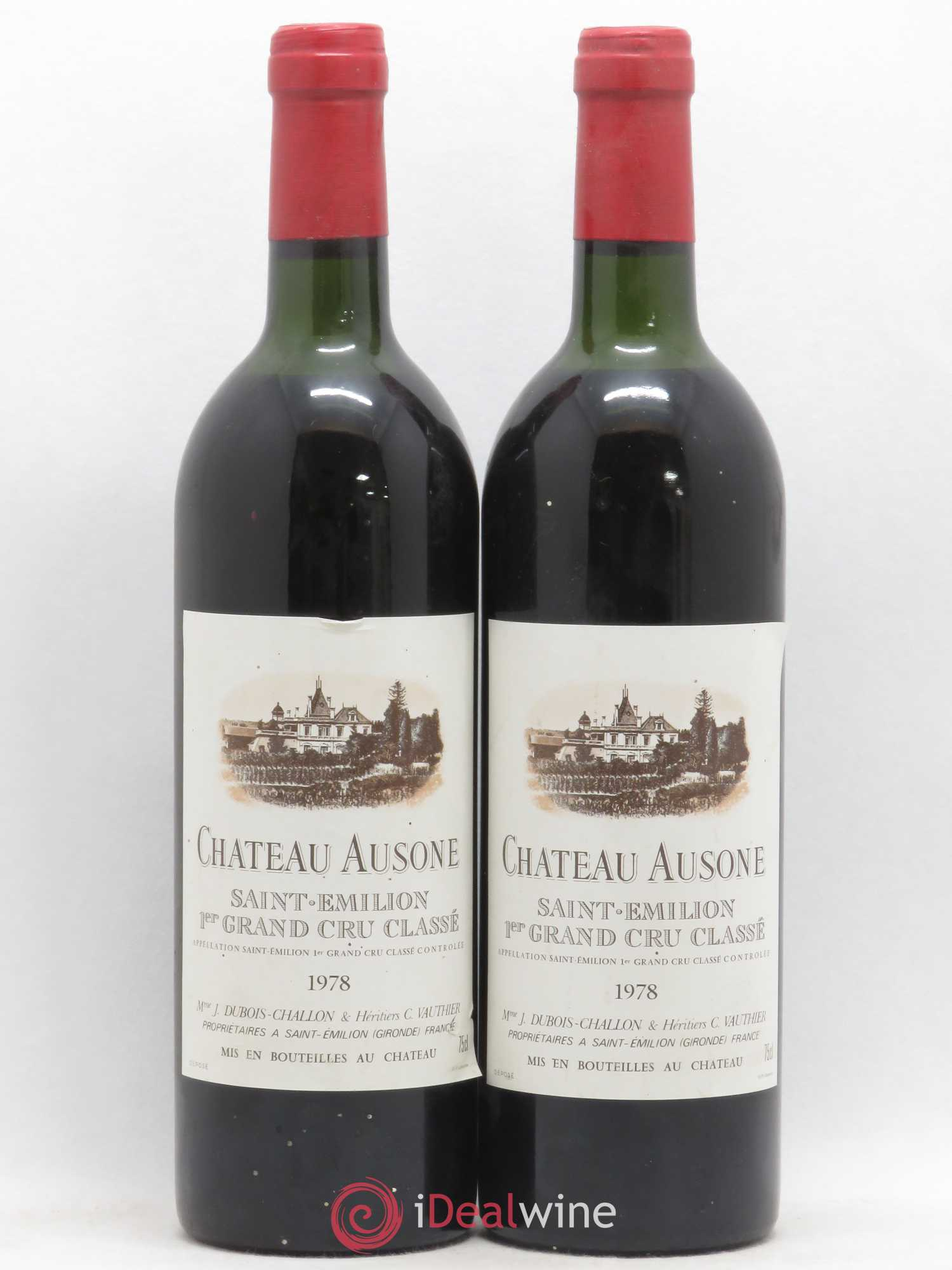 Château Ausone 1er Grand Cru Classé A  1978 - Lot of 2 Bottles