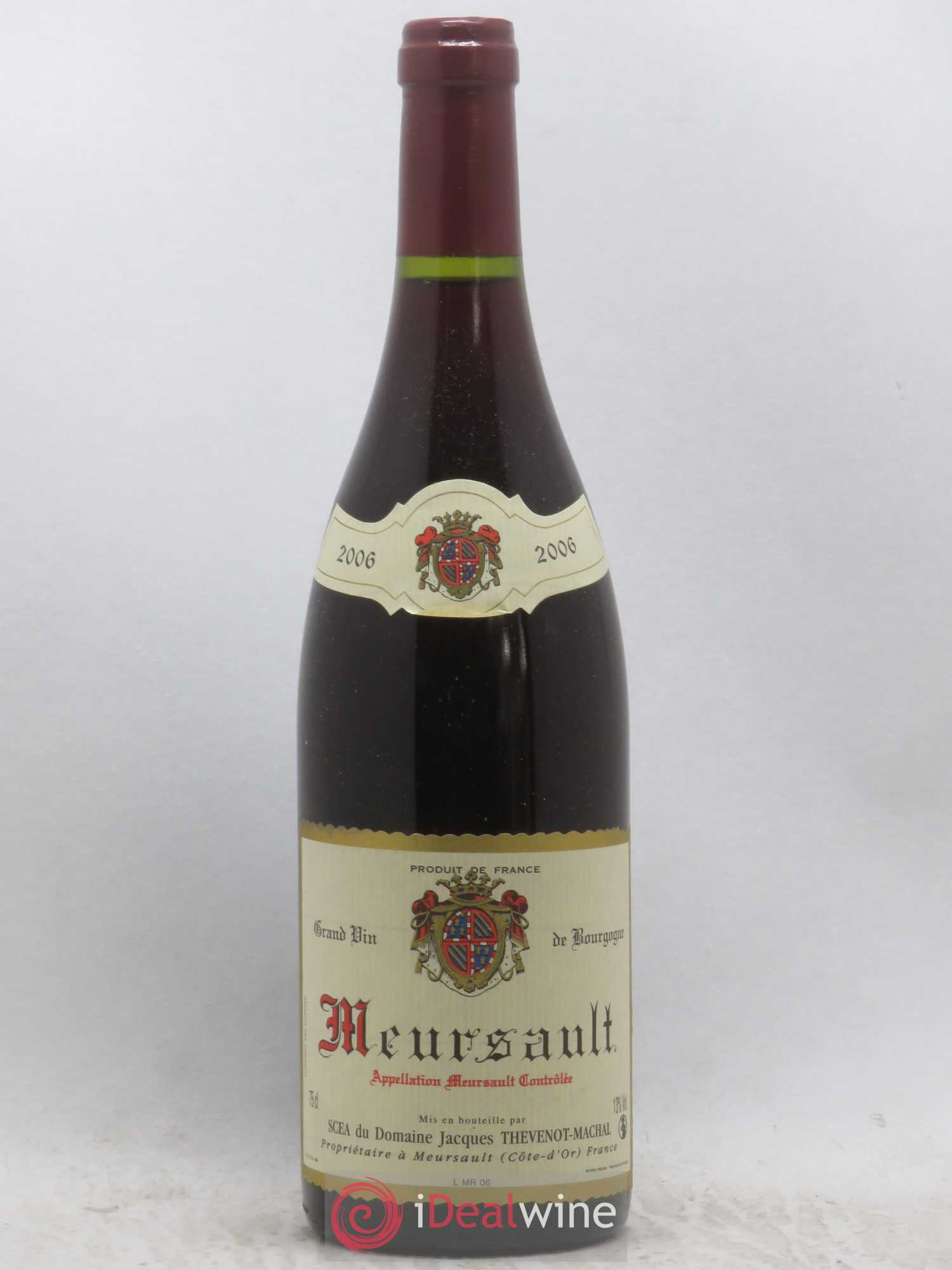Meursault Domaine Jacques Thévenot Machal 2006 - Lot of 1 Bottle
