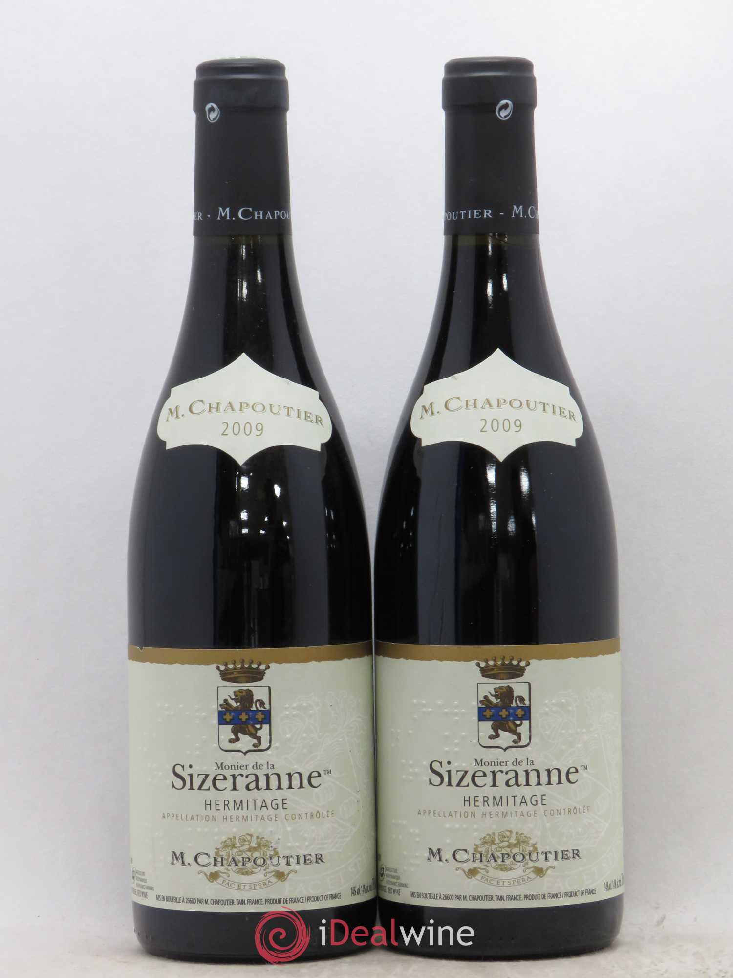 Hermitage La Sizeranne Chapoutier  2009 - Lot of 2 Bottles
