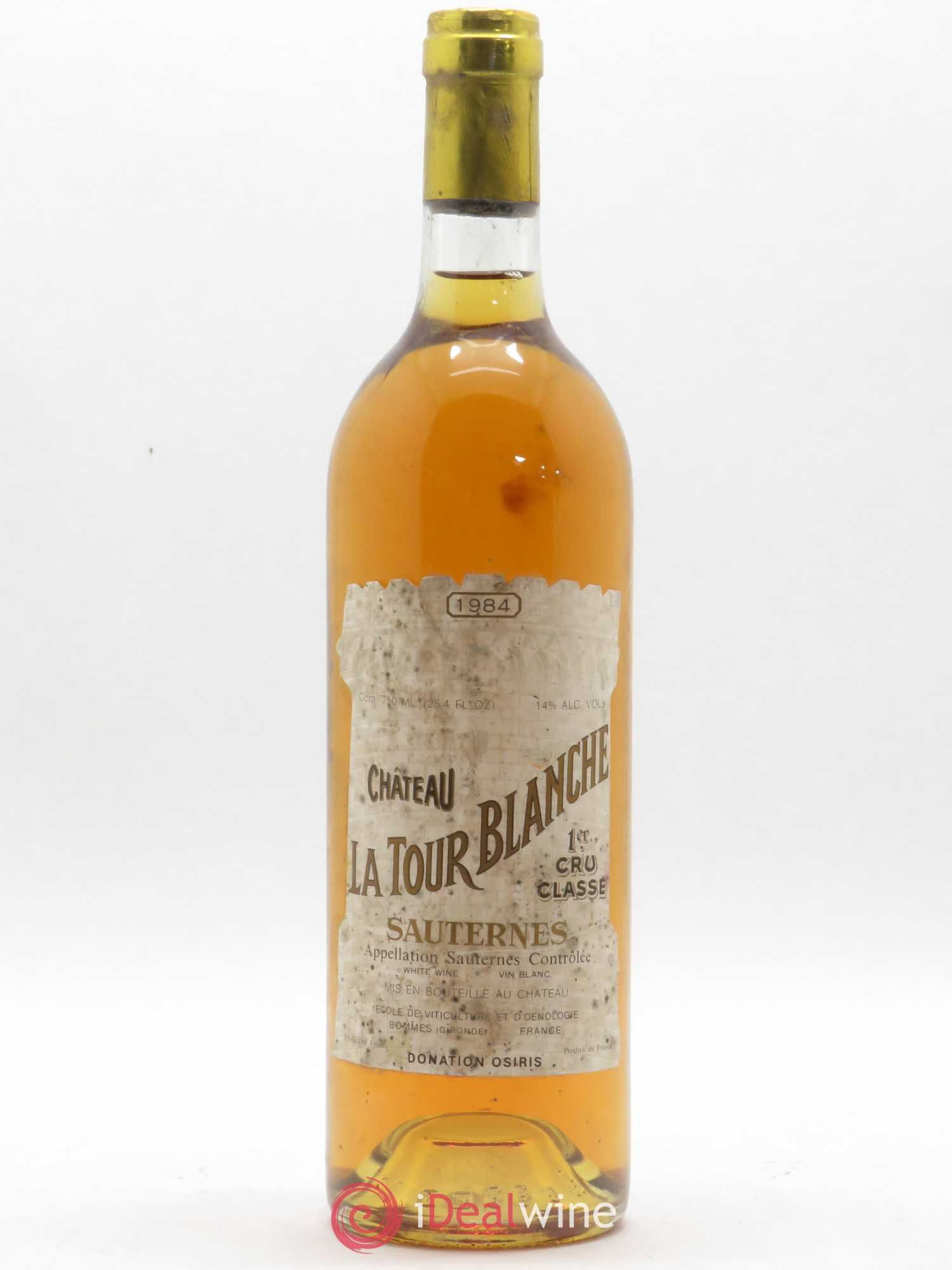 Château la Tour Blanche 1er Grand Cru Classé  1984 - Lot of 1 Bottle