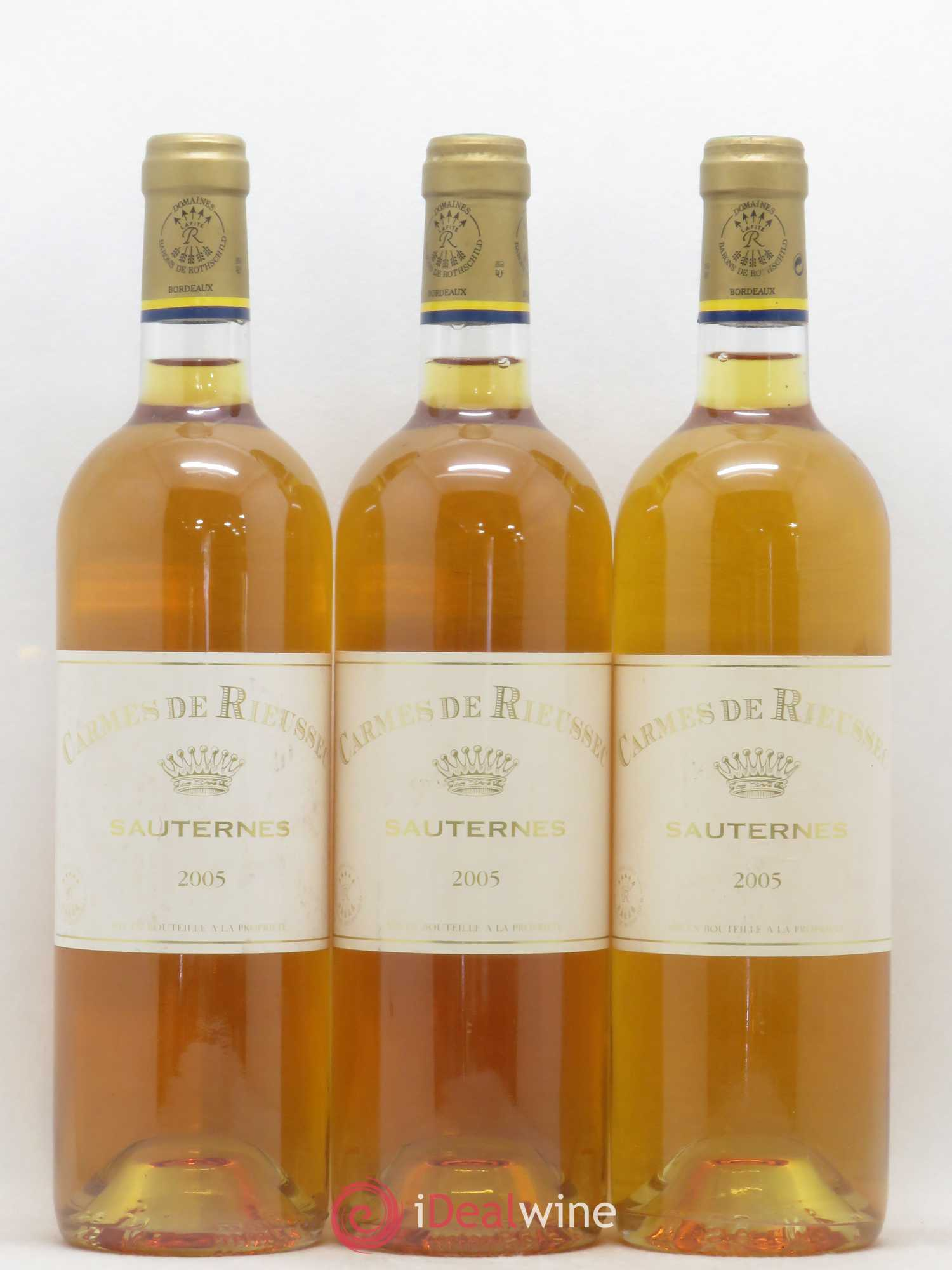 Carmes de Rieussec  2005 - Lot of 3 Bottles