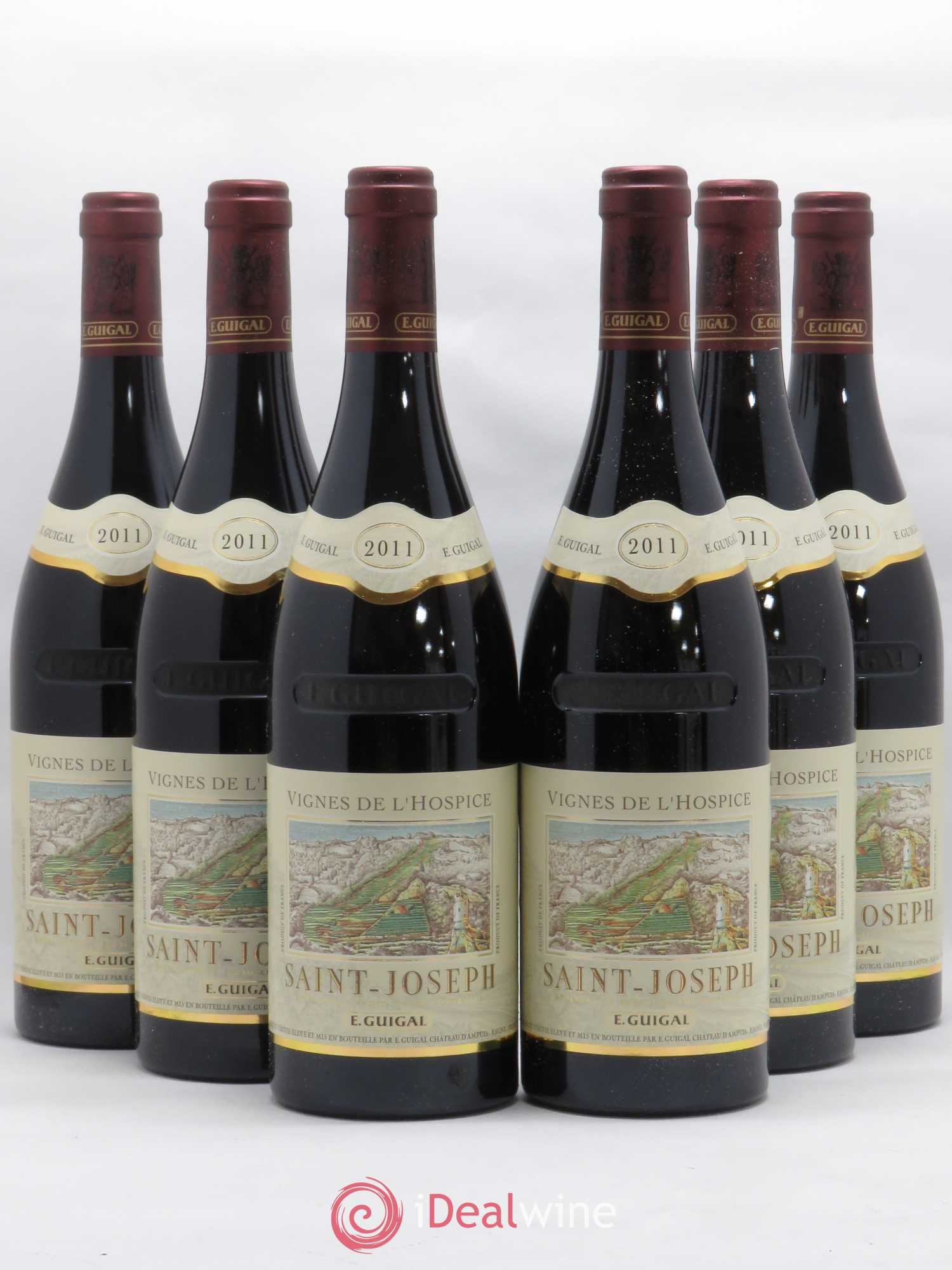 Saint-Joseph Vignes de l'Hospice Guigal  2011 - Lot of 6 Bottles