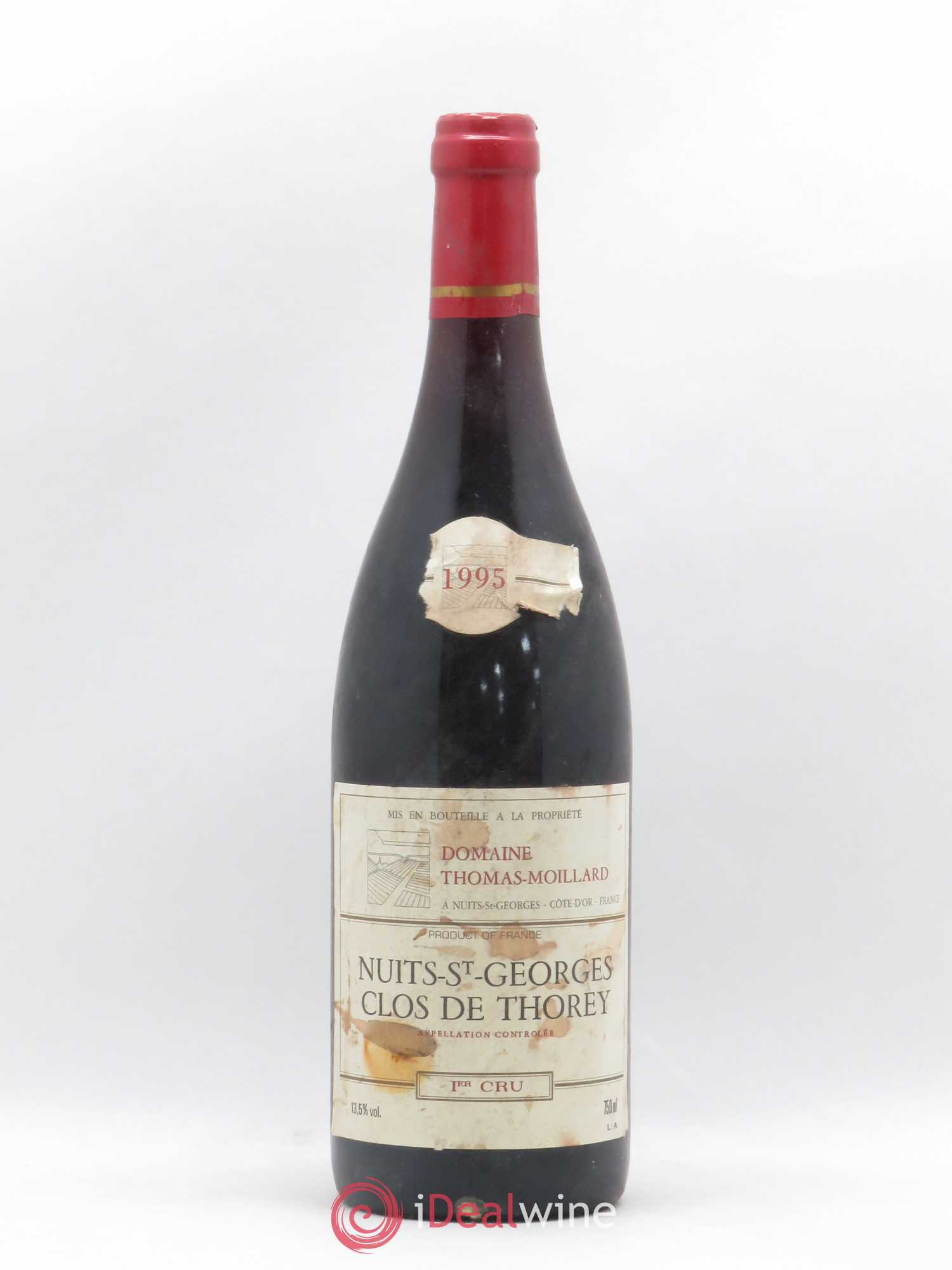 Nuits Saint-Georges 1er Cru Clos de Thorey Thomas Moillard 1995 - Lot of 1 Bottle