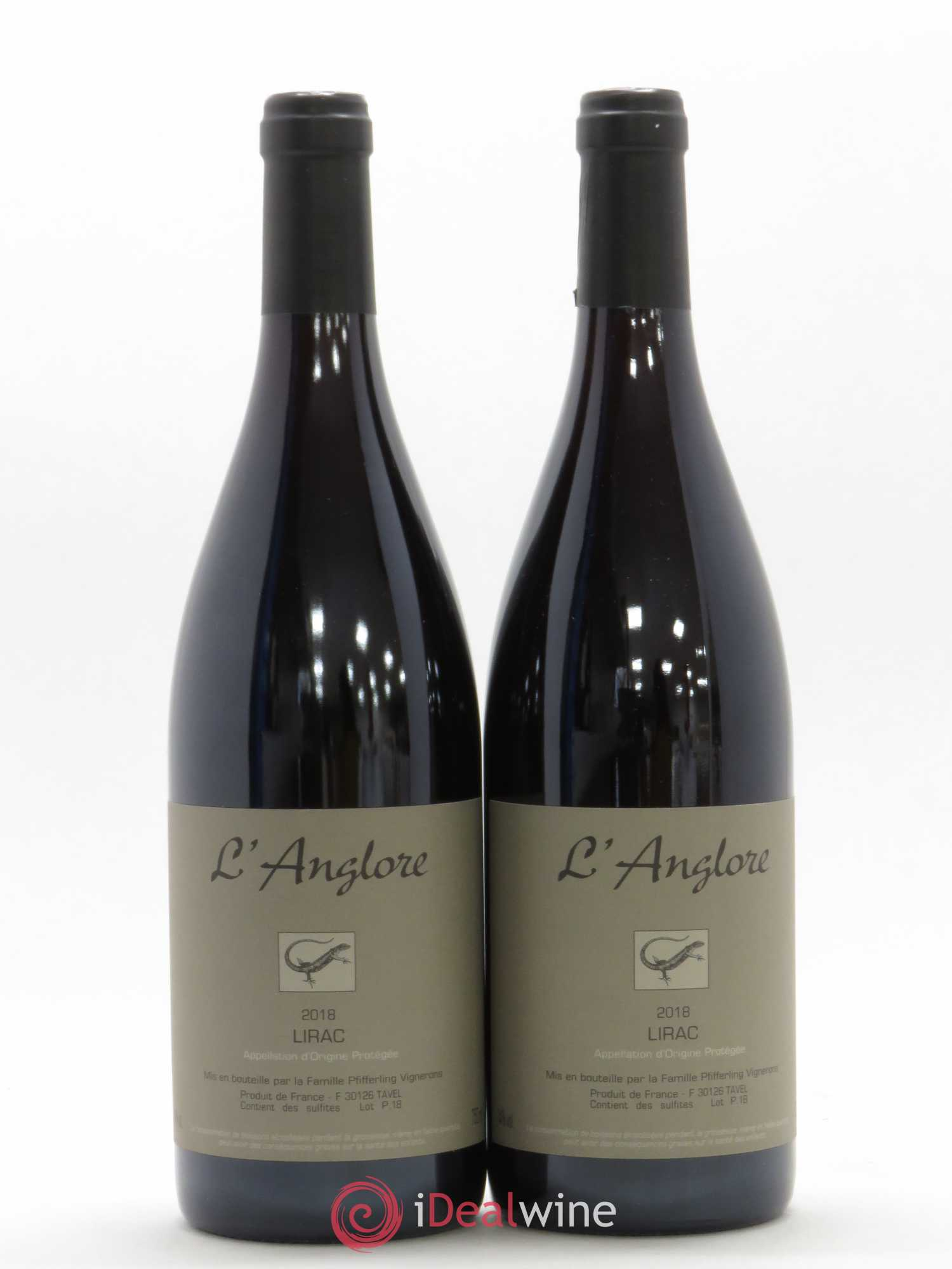 Lirac L'Anglore  2018 - Lot of 2 Bottles