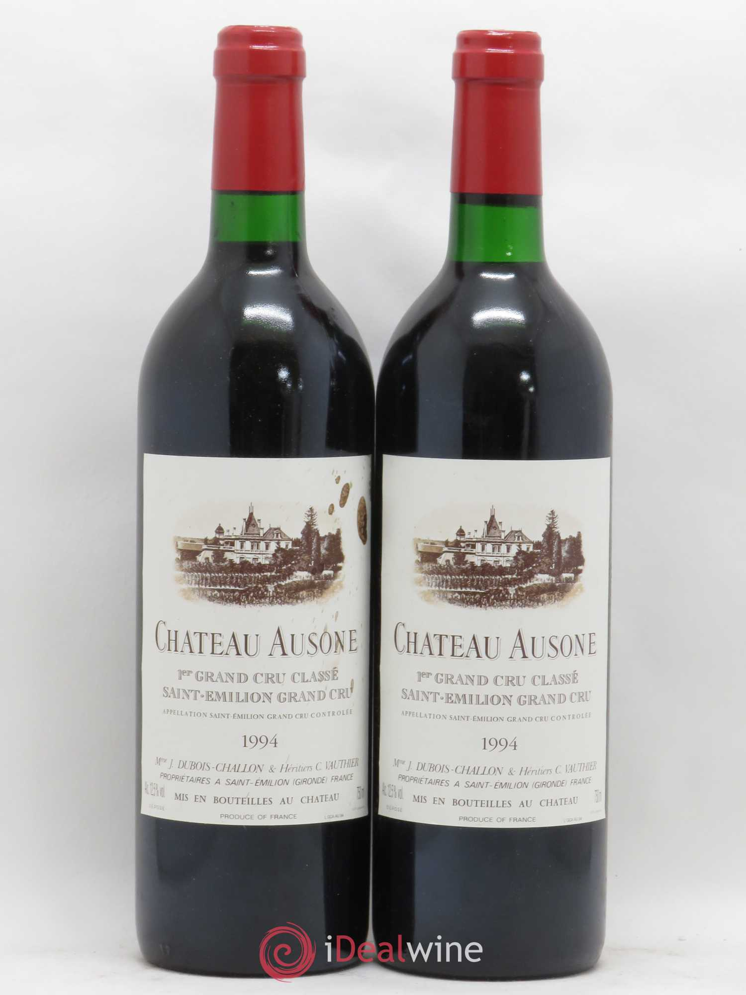 Château Ausone 1er Grand Cru Classé A  1994 - Lot of 2 Bottles