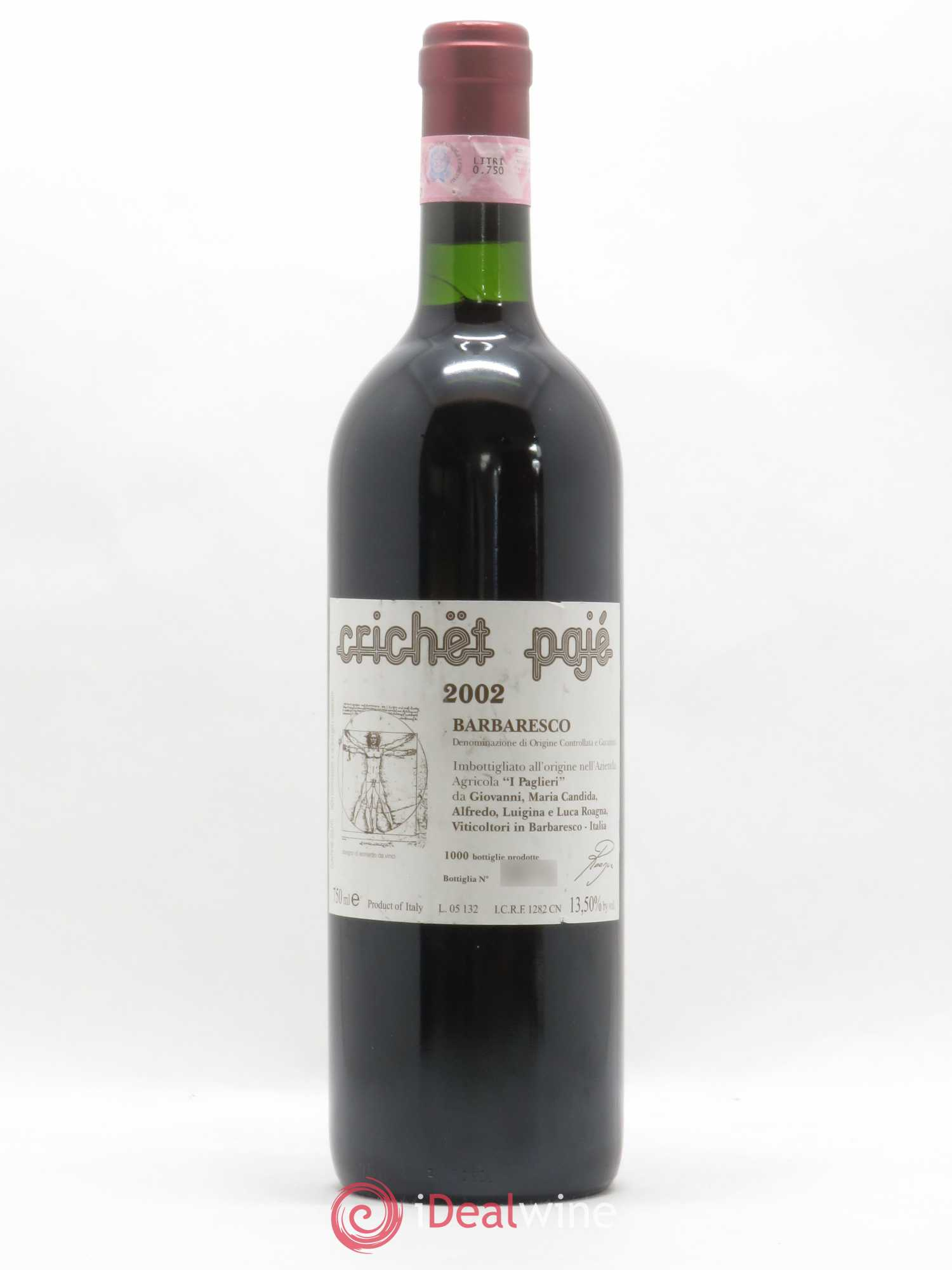Barbaresco Crichet Pajé Roagna  2002 - Lot de 1 Bouteille