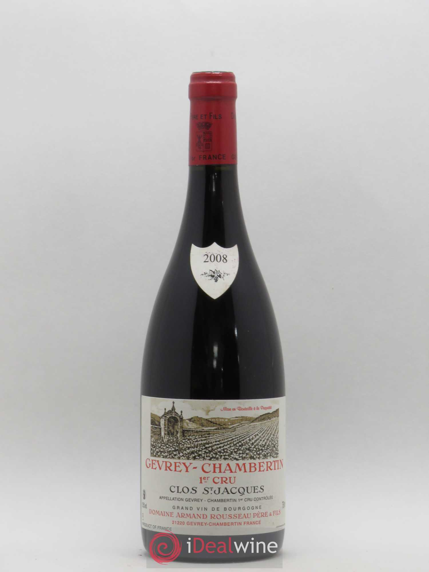 Gevrey-Chambertin 1er Cru Clos Saint-Jacques Armand Rousseau (Domaine)  2008 - Lot of 1 Bottle