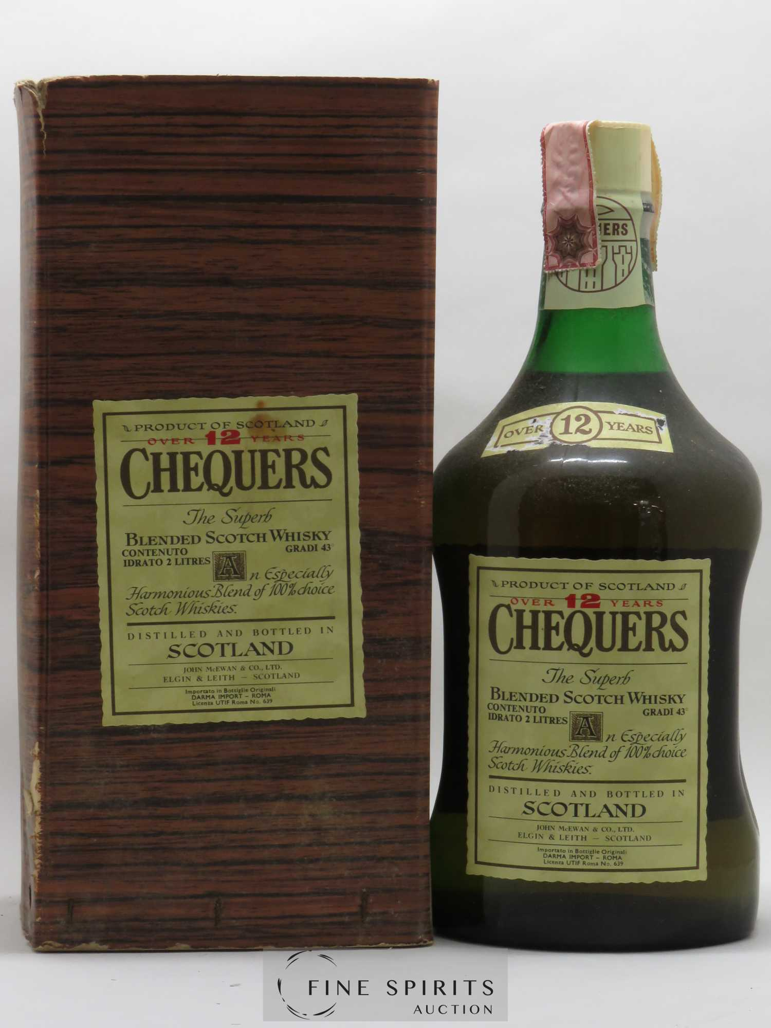 Chequers 12 years Of. the Superb  - Lot of 1 Magnum
