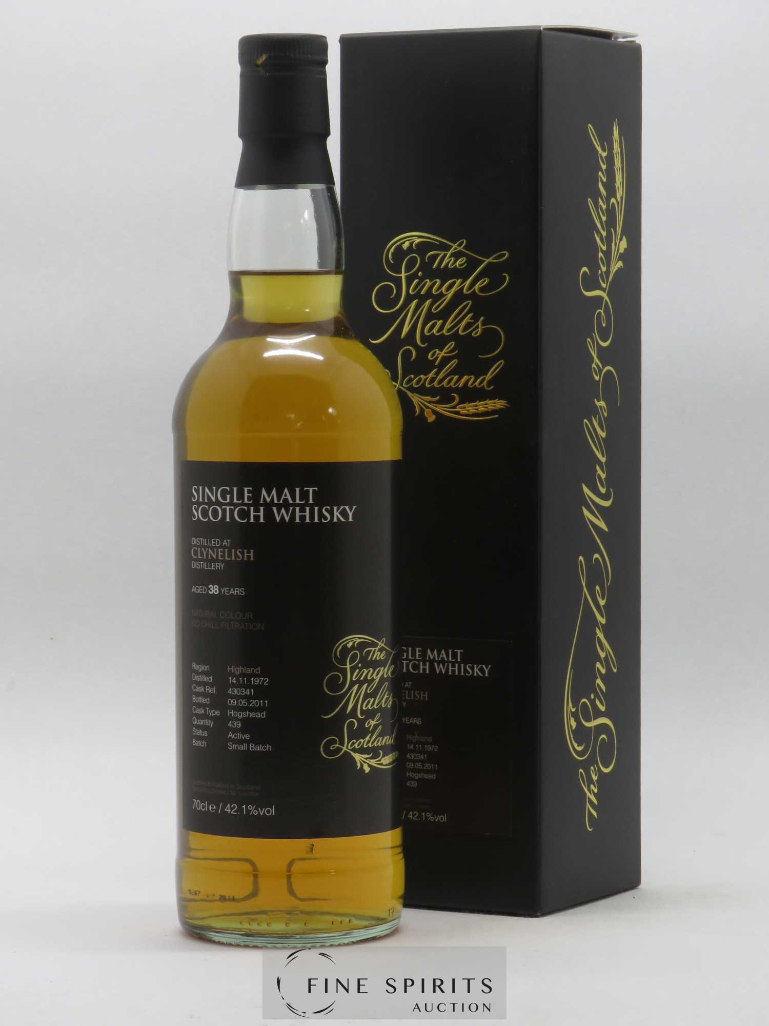 Clynelish 38 years 1972 Speciality Drinks Hogshead n°430341 - 2011 Release The Single Malts of Scotland   - Lot de 1 Bouteille