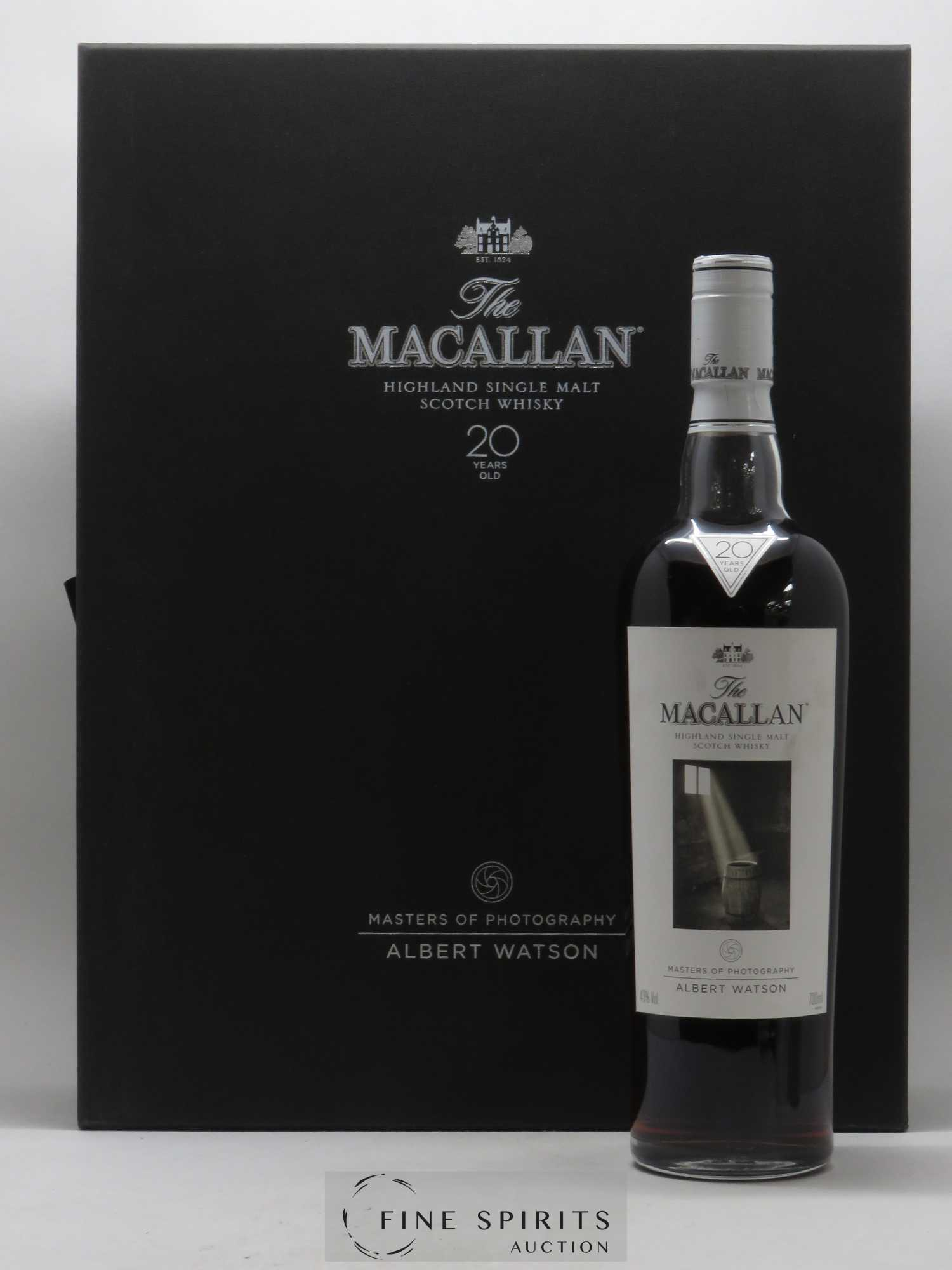 Macallan (The) 20 years Of. Albert Watson Edition Sherry Oak - Batch 1000 Bottles Master Of Photography n°2   - Lot de 1 Bouteille