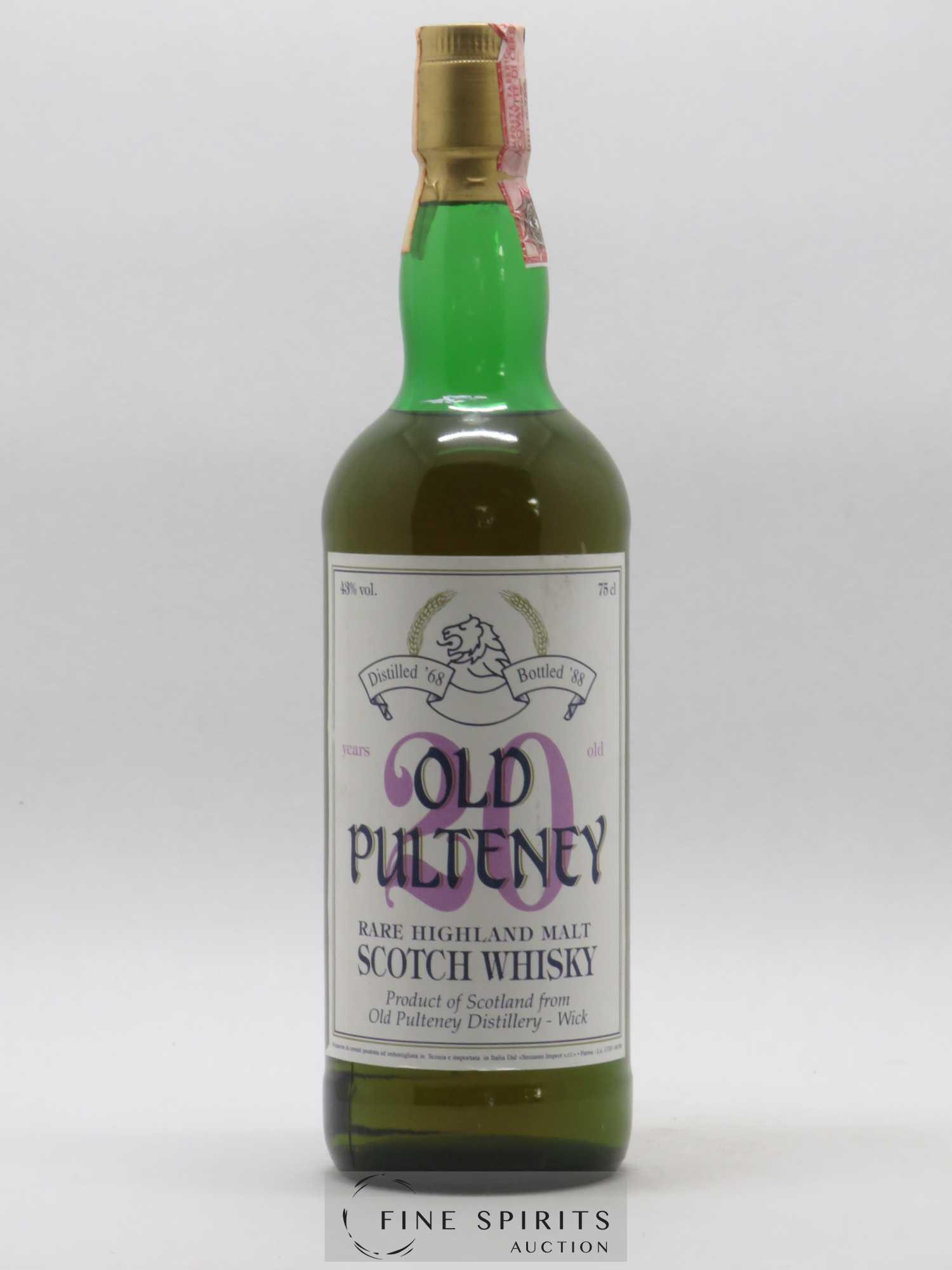 Old Pulteney 20 years 1968 Sestante Rare Highland Malt 43 %