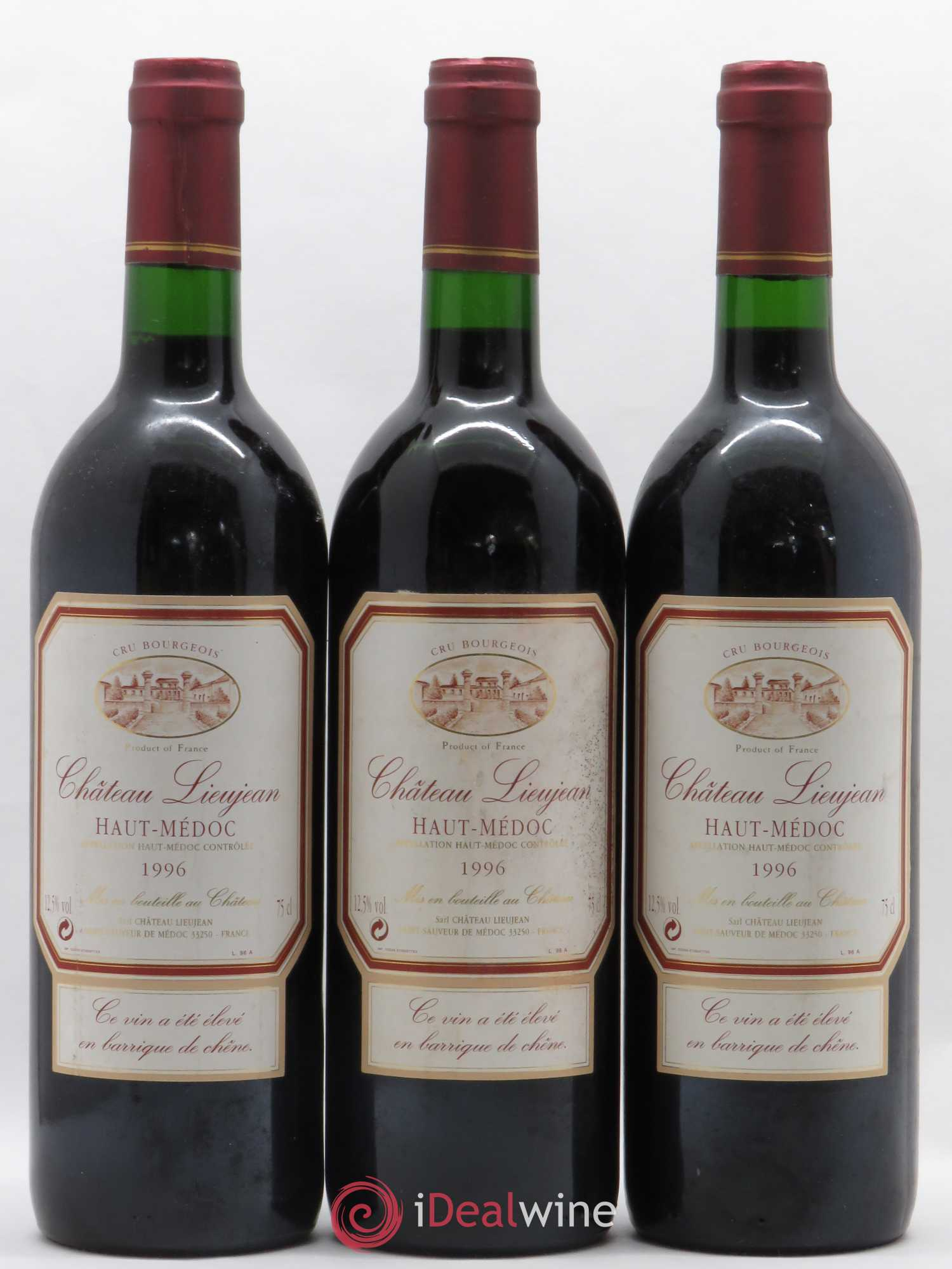 Château Lieujean (no reserve) 1996 - Lot of 3 Bottles