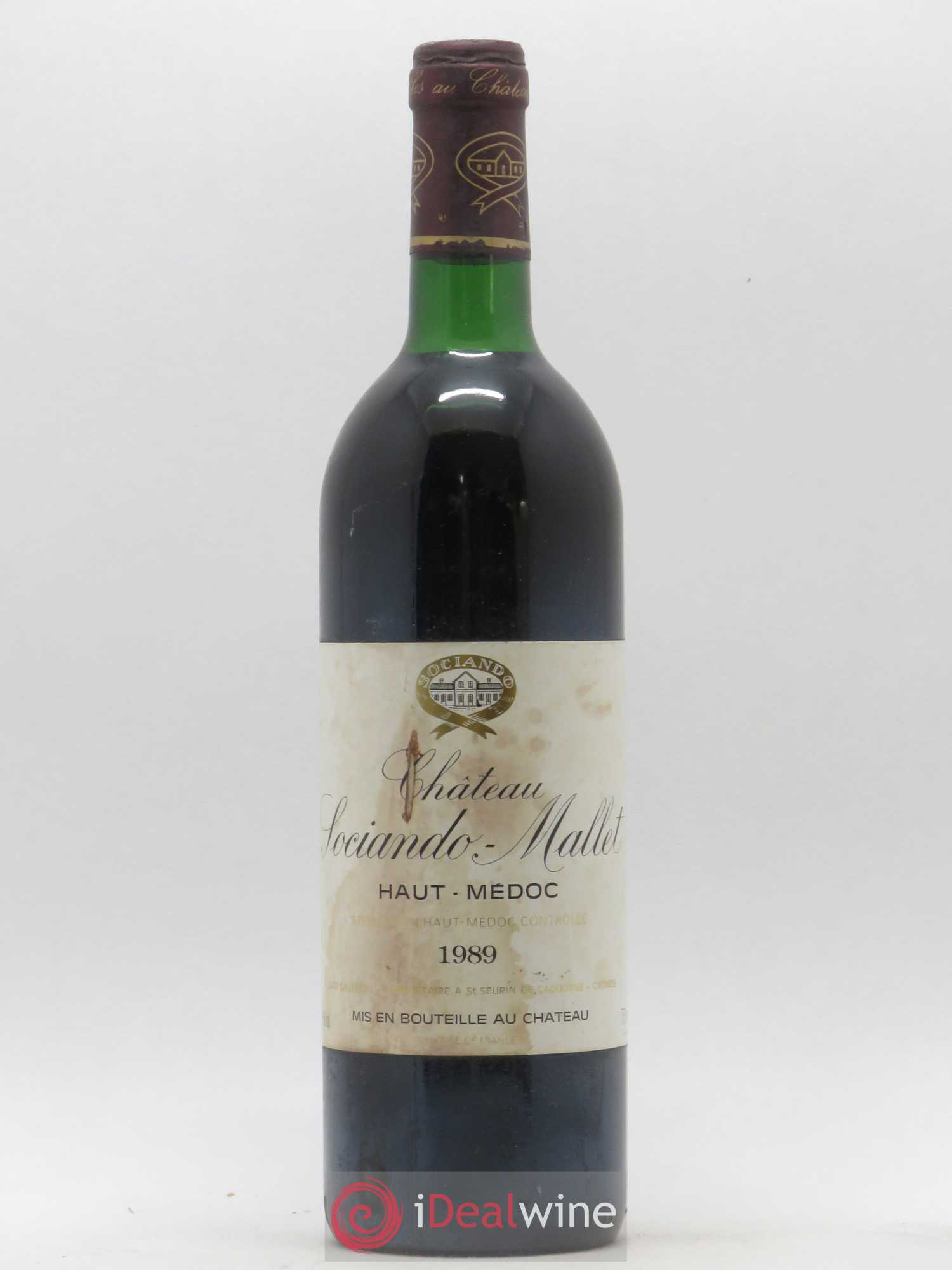 Château Sociando Mallet  1989 - Lot of 1 Bottle