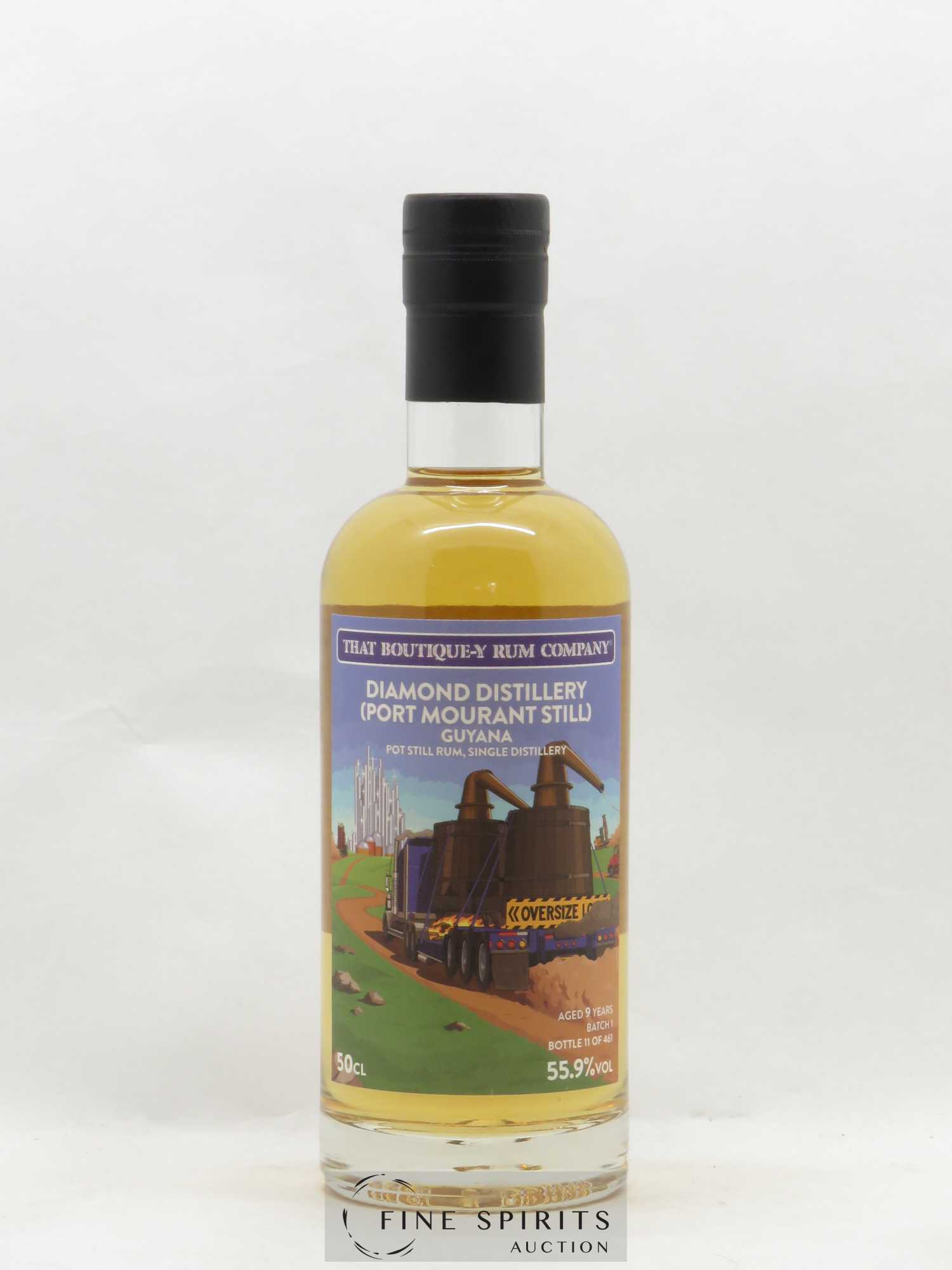 Rhum Diamond Distillery 9 years That Boutique-Y Rum Company Port Mourant Still N°11 50CL  - Lot de 1 Bouteille