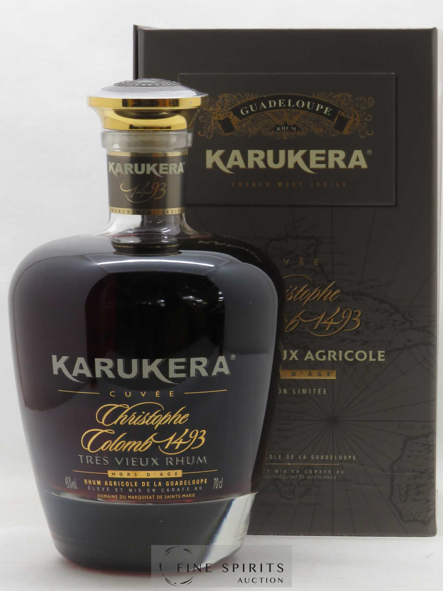 Rhum Karukera Of. Cuvee Christophe Colomb 1493   - Lot de 1 Bouteille