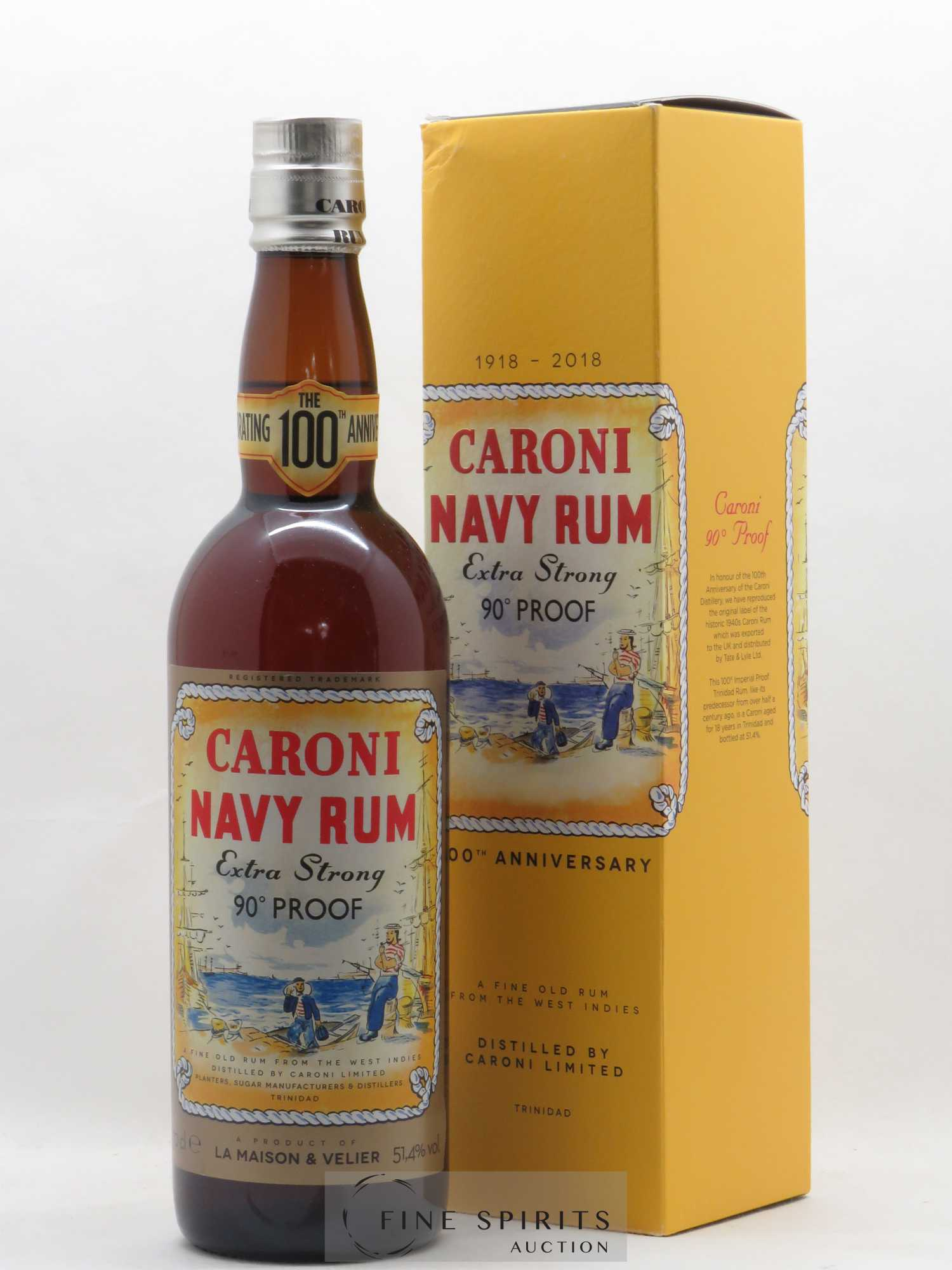 Rhum Caroni Velier Extra Strong 100th Anniversary 90° Proof   - Lot de 1 Bouteille