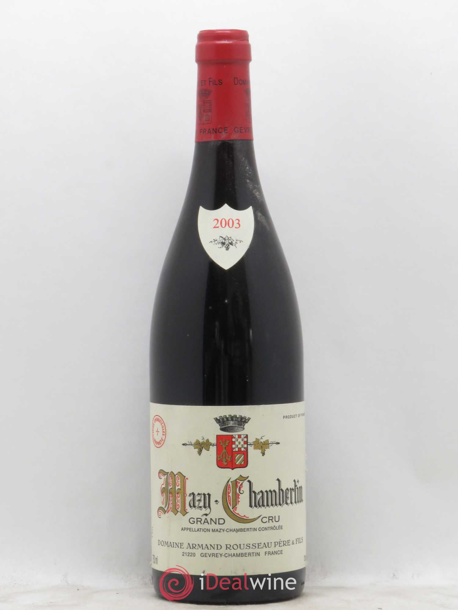 Mazy-Chambertin Grand Cru Armand Rousseau (Domaine)  2003 - Lot of 1 Bottle