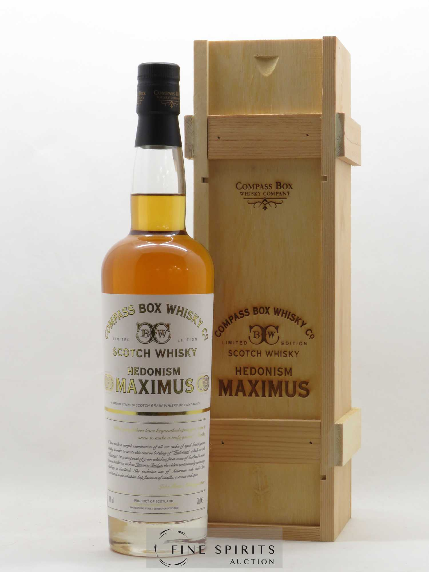 Hedonism Compass Box Maximus Limited Edition   - Lot de 1 Bouteille