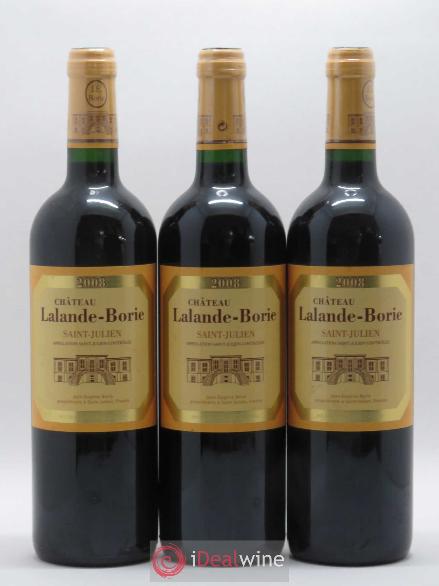 Château Lalande Borie  2008 - Lot of 3 Bottles