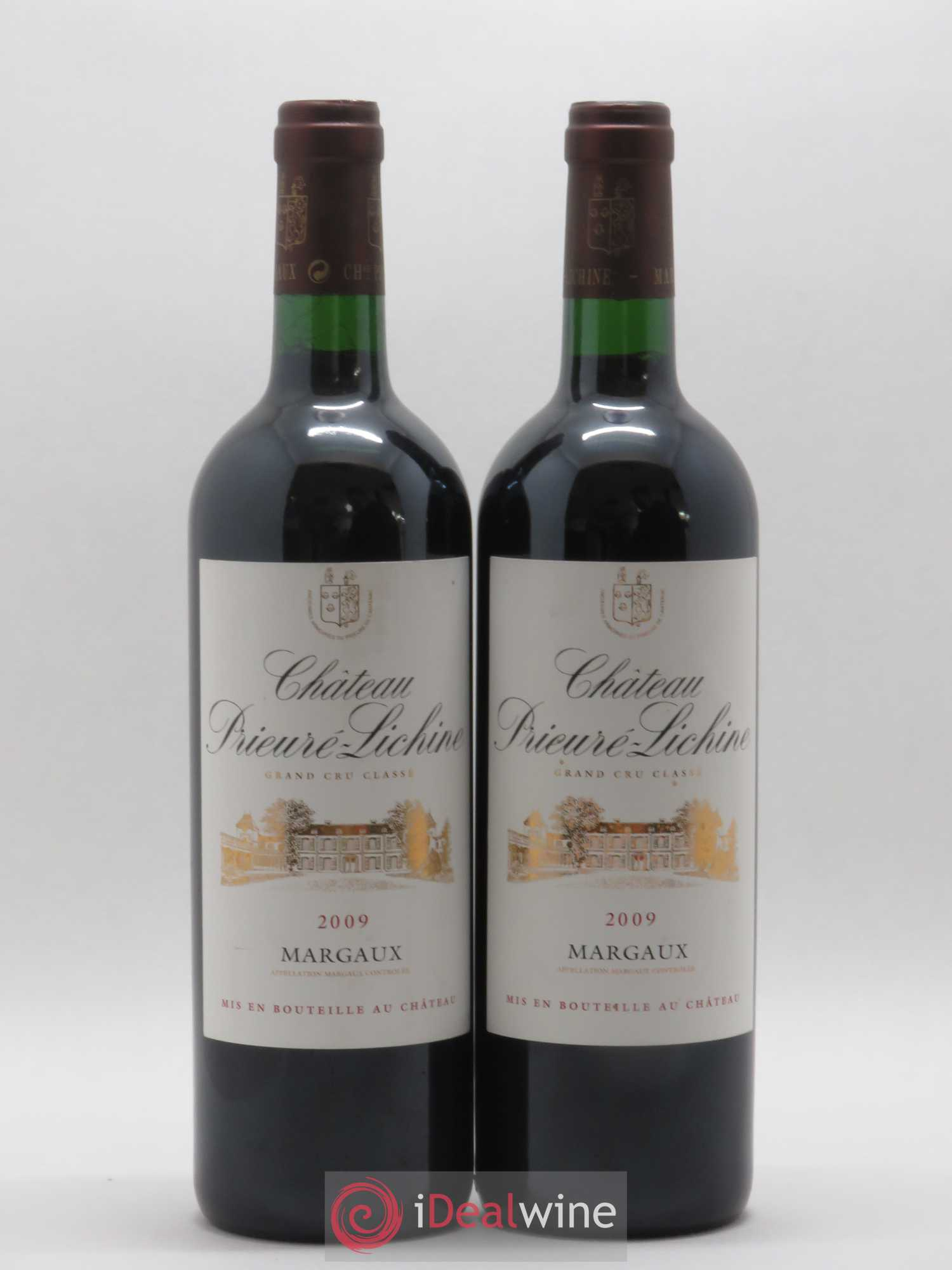Château Prieuré Lichine 4ème Grand Cru Classé  2009 - Lot of 2 Bottles