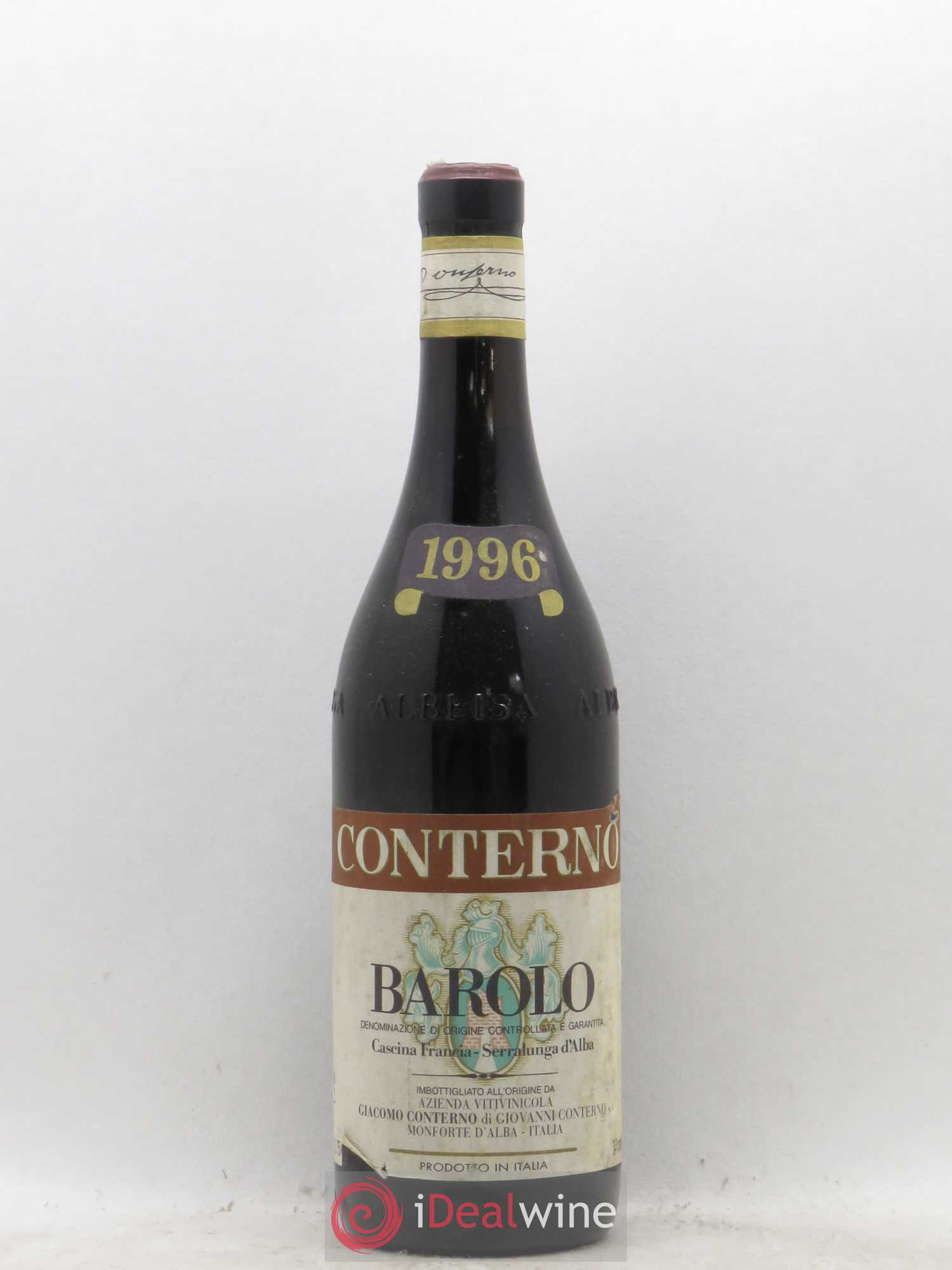 Barolo DOCG Giacomo Conterno  1996 - Lot of 1 Bottle