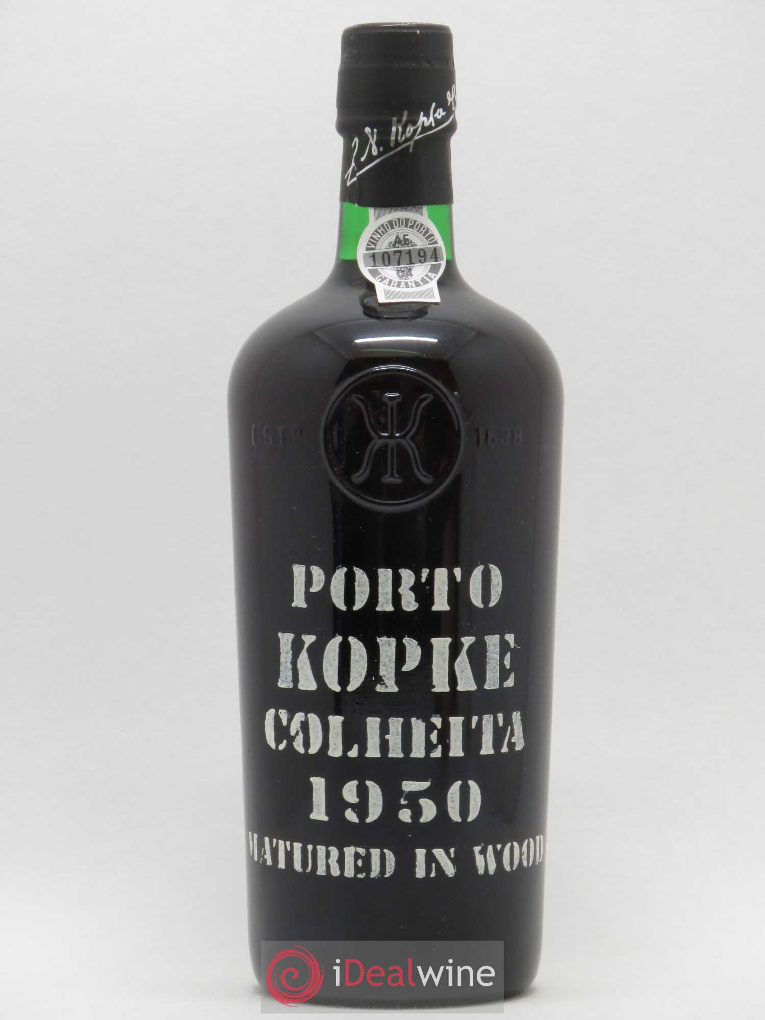 Porto Kopke Colheita Port 1950 - Lot of 1 Bottle