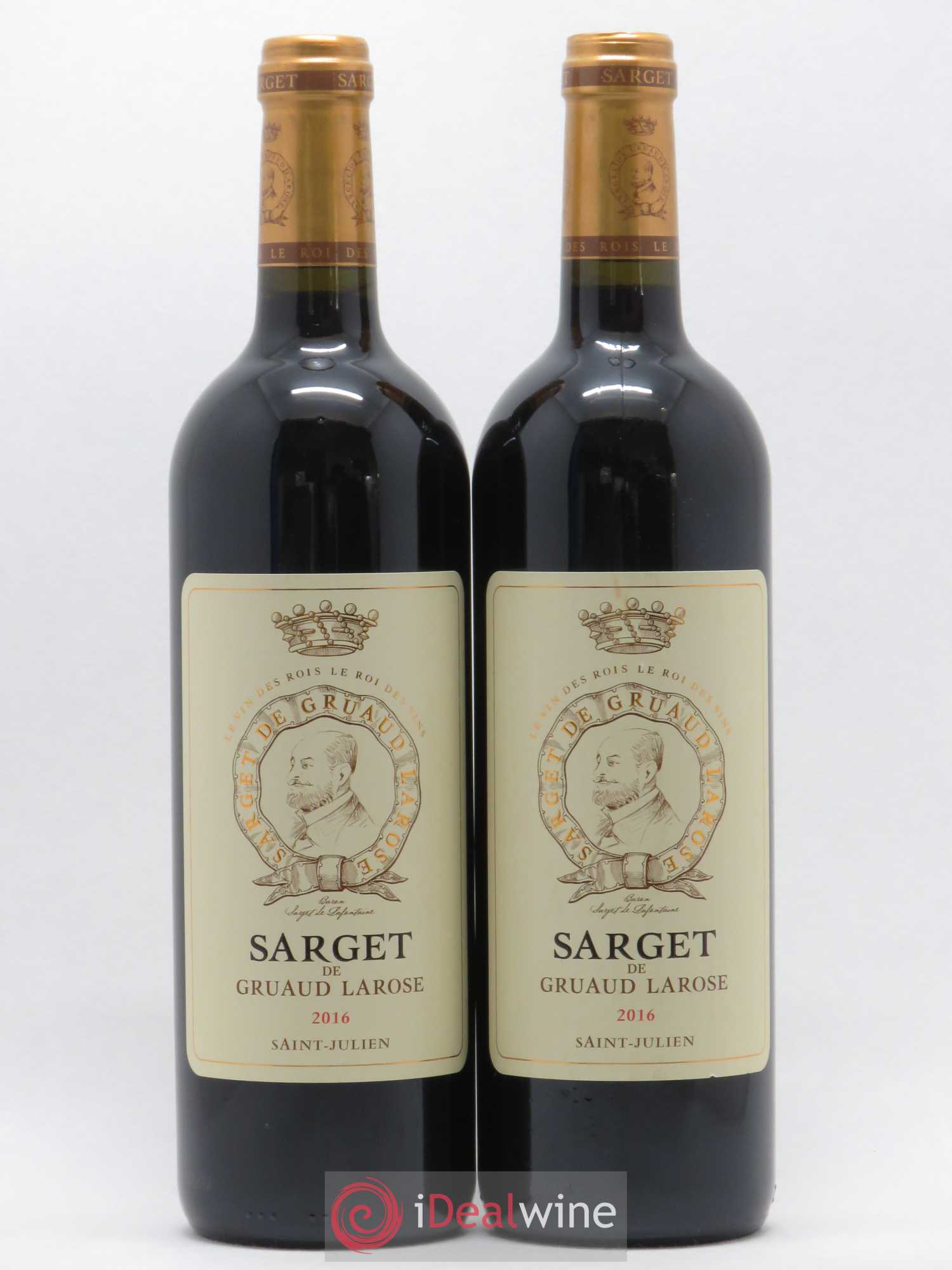 Sarget de Gruaud Larose Second Vin  2016 - Lot of 2 Bottles