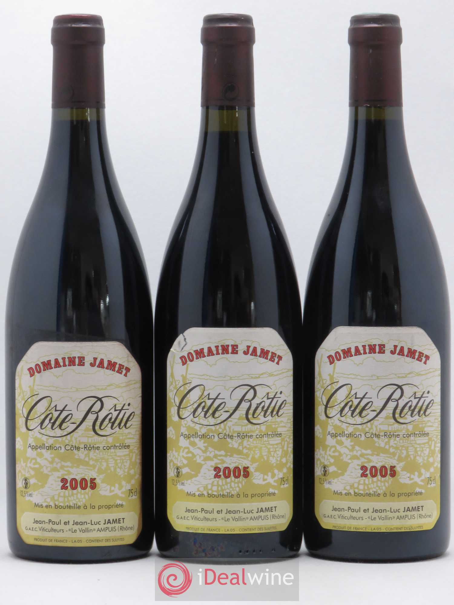 Côte-Rôtie Jamet (Domaine)  2005 - Lot of 3 Bottles