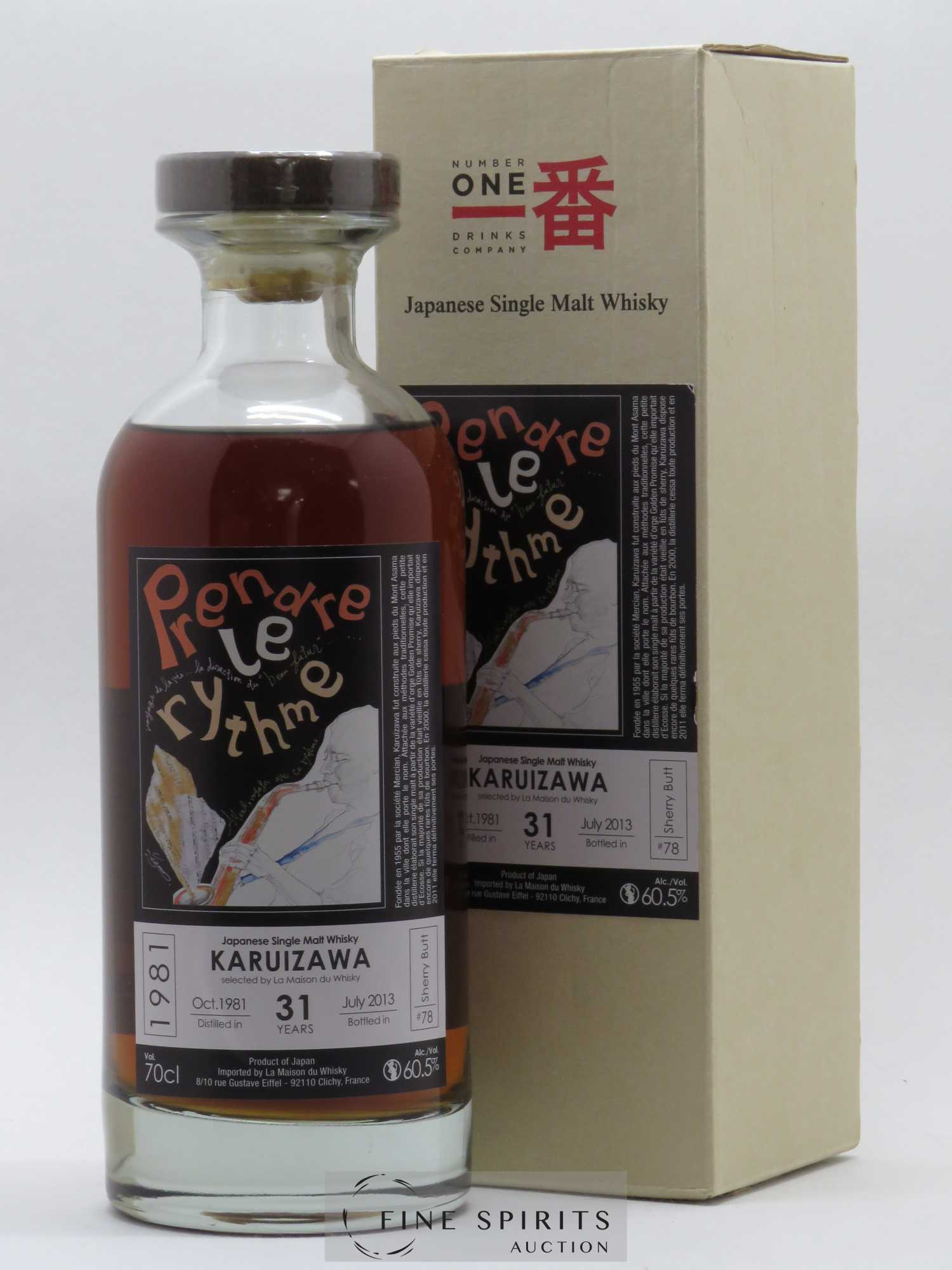 Karuizawa 31 years 1981 Number One Drinks Prendre le Rythme Sherry But n°78 bottled July 2013 LMDW   - Lot de 1 Bouteille