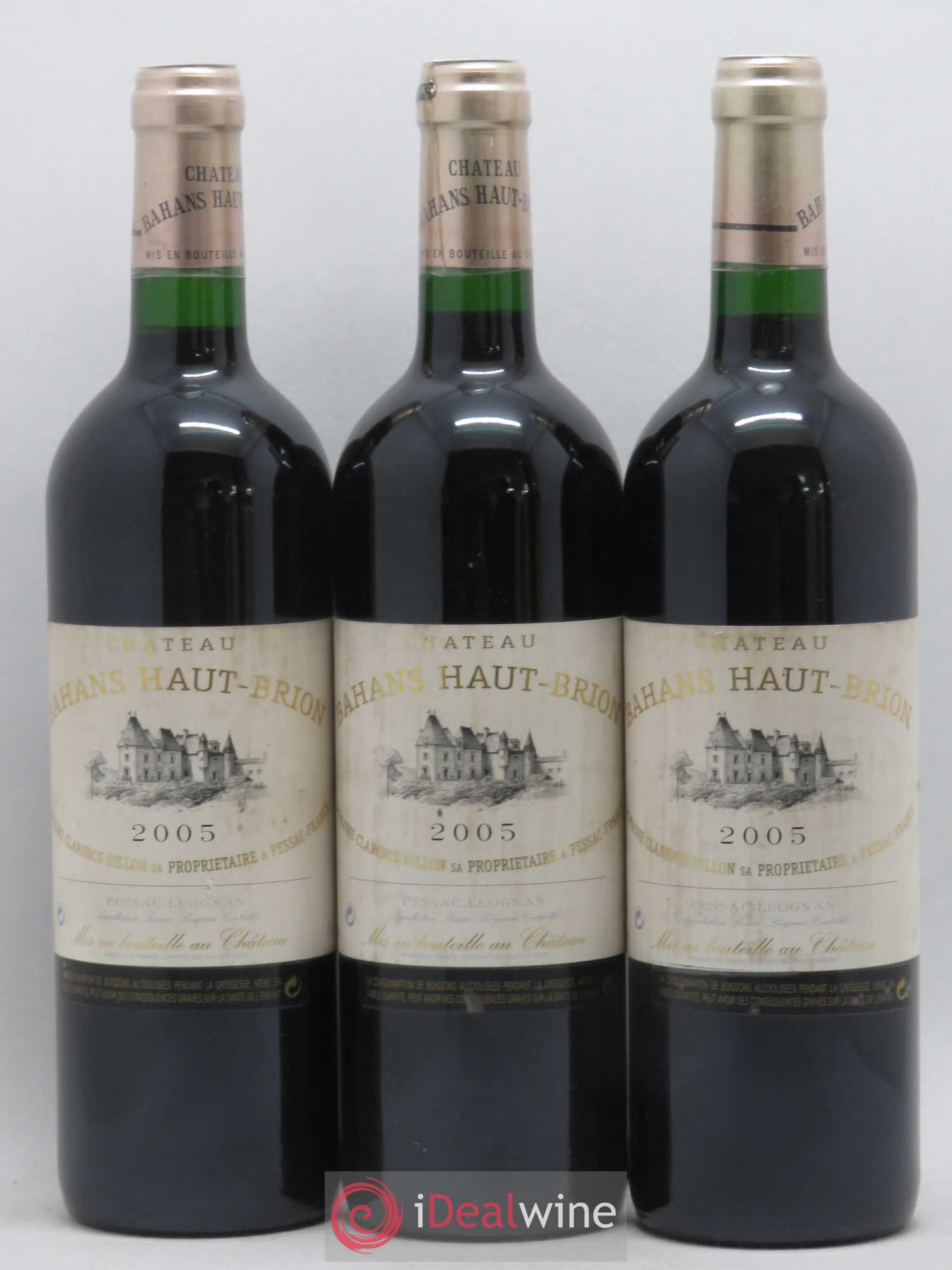Clarence (Bahans) de Haut-Brion Second Vin  2005 - Lot de 3 Bouteilles