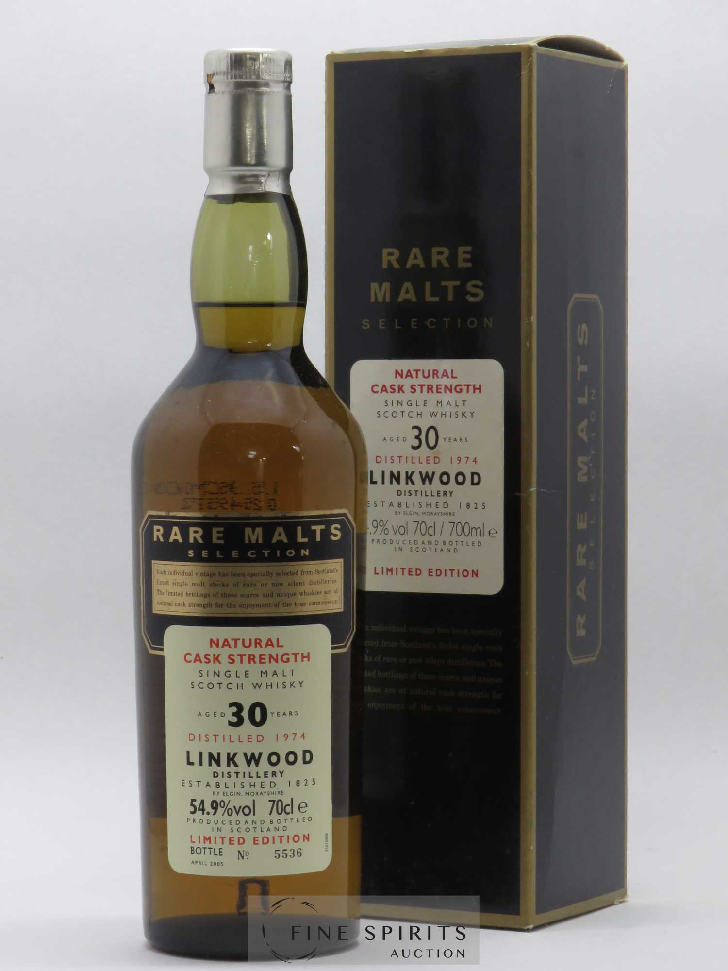 Linkwood 30 years 1974 Of. Rare Malts Selection Natural Cask Strengh - bottled 2005 Limited Edition   - Lot de 1 Bouteille