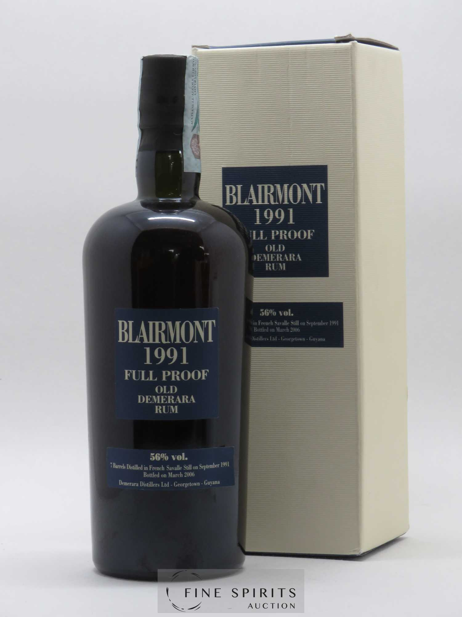 Blairmont 15 years 1991 Velier Full Proof Barrels B - bottled in 2006   - Lot de 1 Bouteille