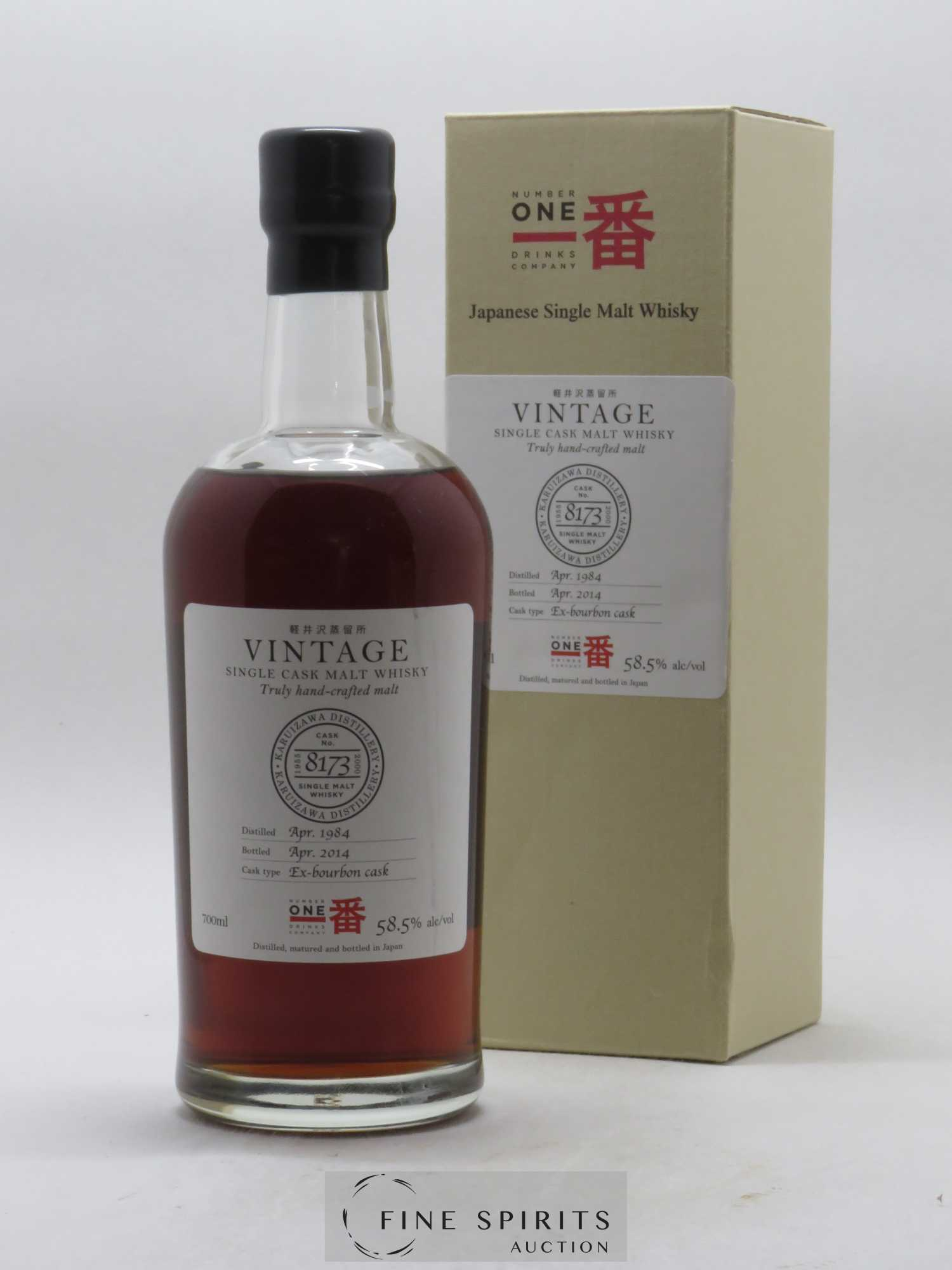 Karuizawa 1984 Number One Drinks Vintage Single Cask n°8173 - bottled 2014 Ex-Bourbon Cask 58,5 % (70 cl)