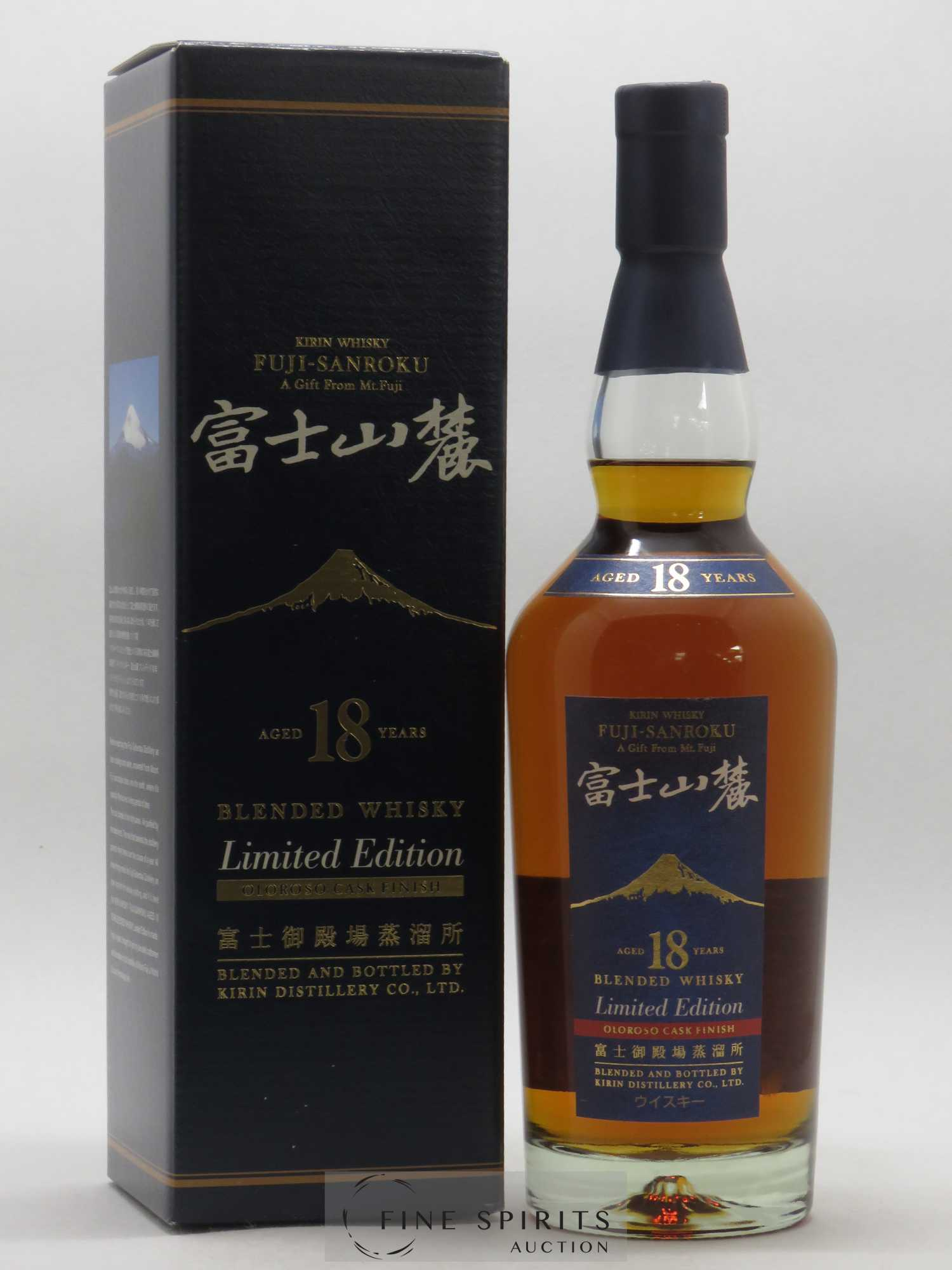 Kirin Fuji-Sanroku 18 years Of. A gift from Mt. Fuji Olorosso Cask Finish Limited Edition   - Lot de 1 Bouteille