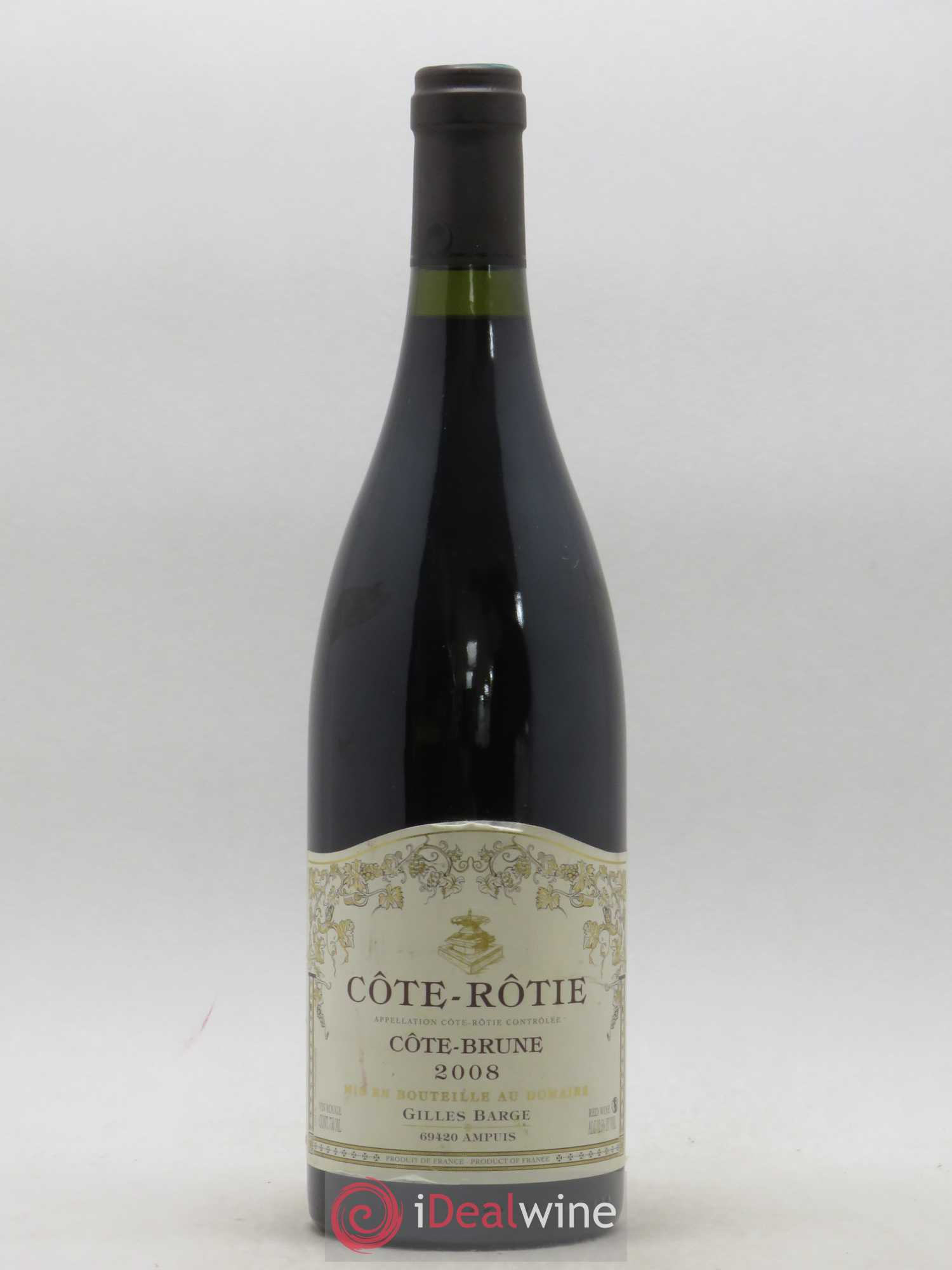 Côte-Rôtie Cote Brune Gilles Barge 2008 - Lot of 1 Bottle